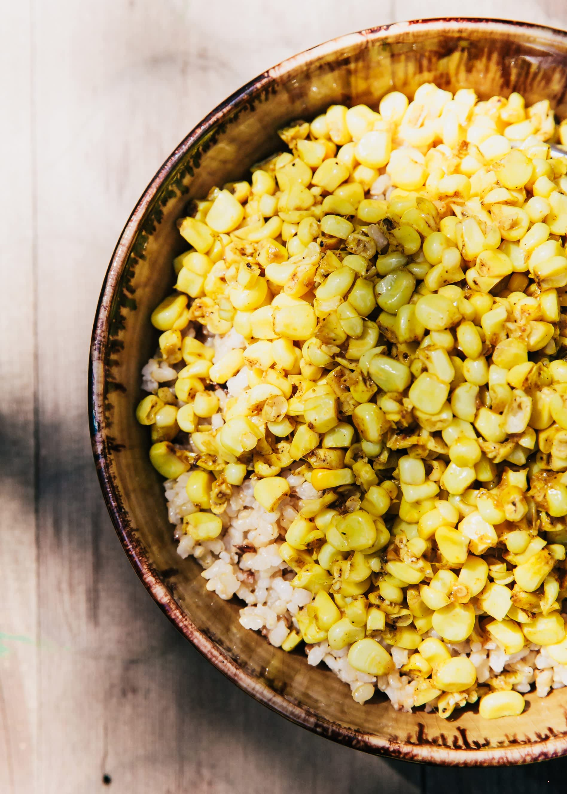 Curried Corn and Coconut Rice