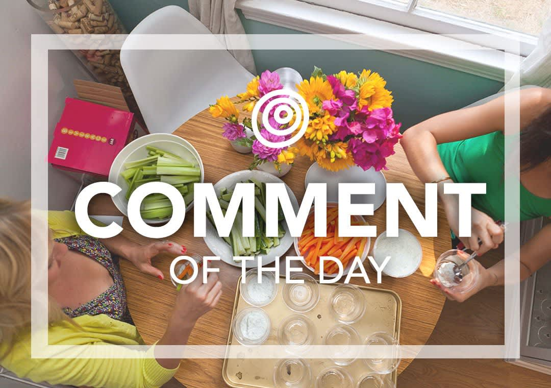 Making veggie cups - Comment of the Day