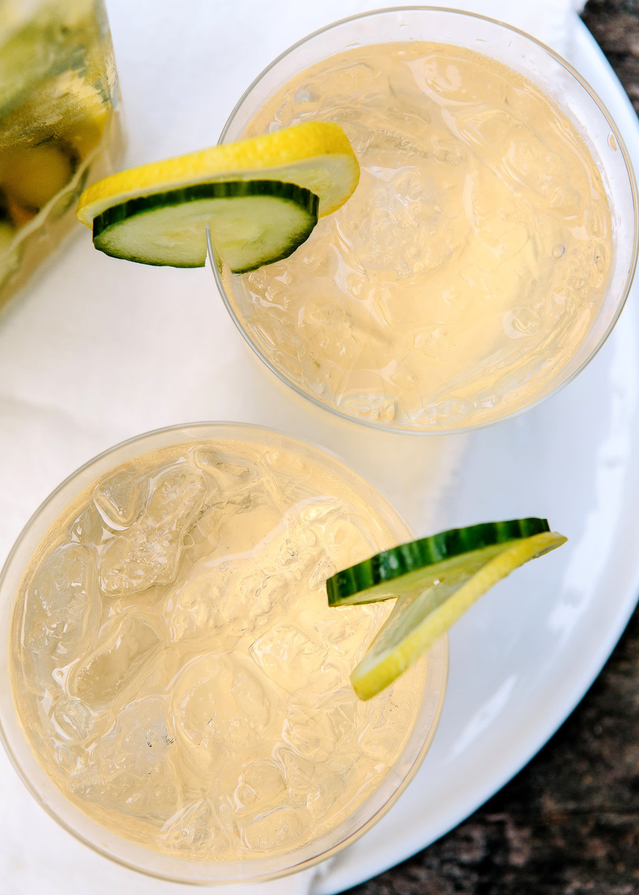 Cucumber, Ginger, and Prosecco Sangria