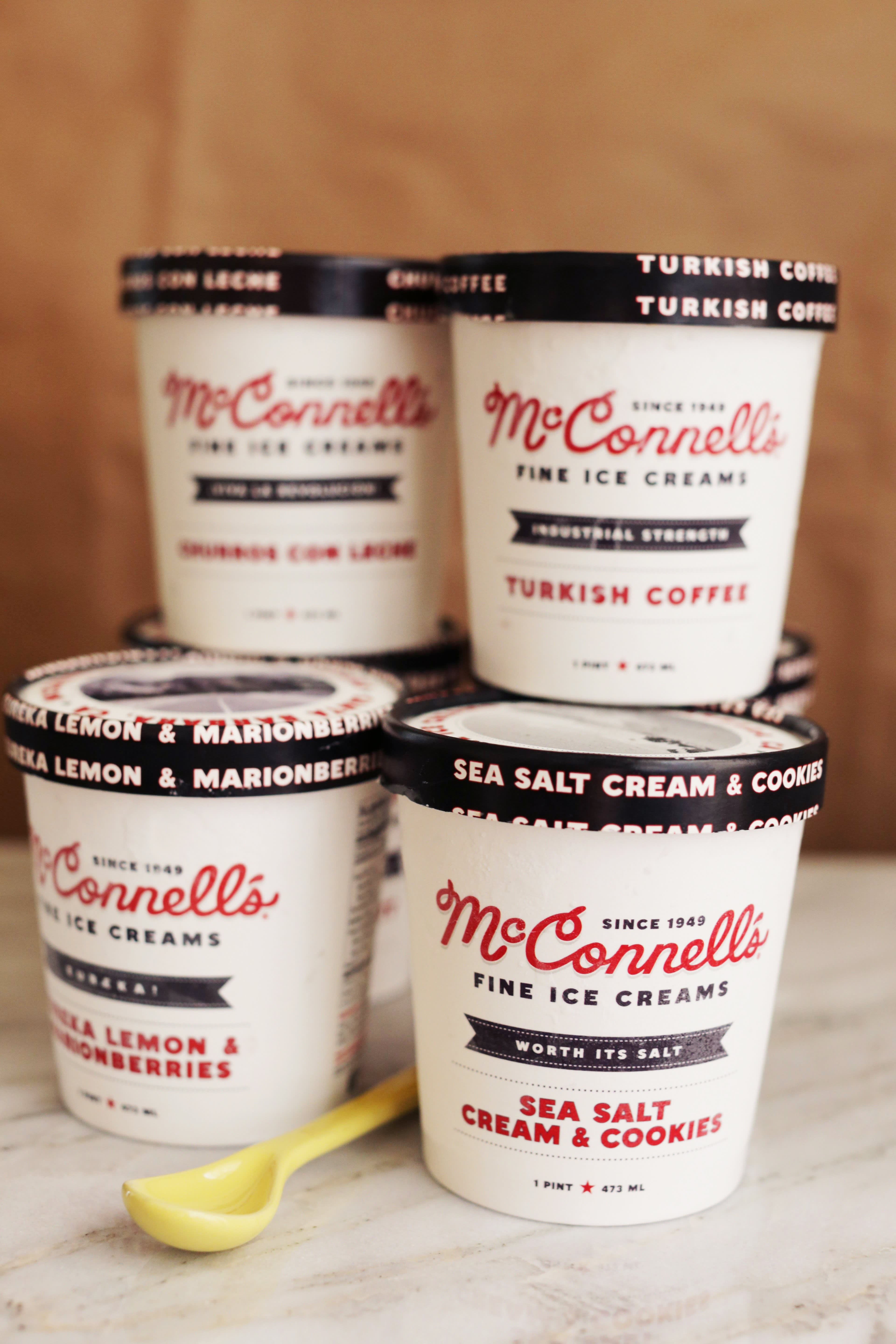 McConnell's ice cream pints