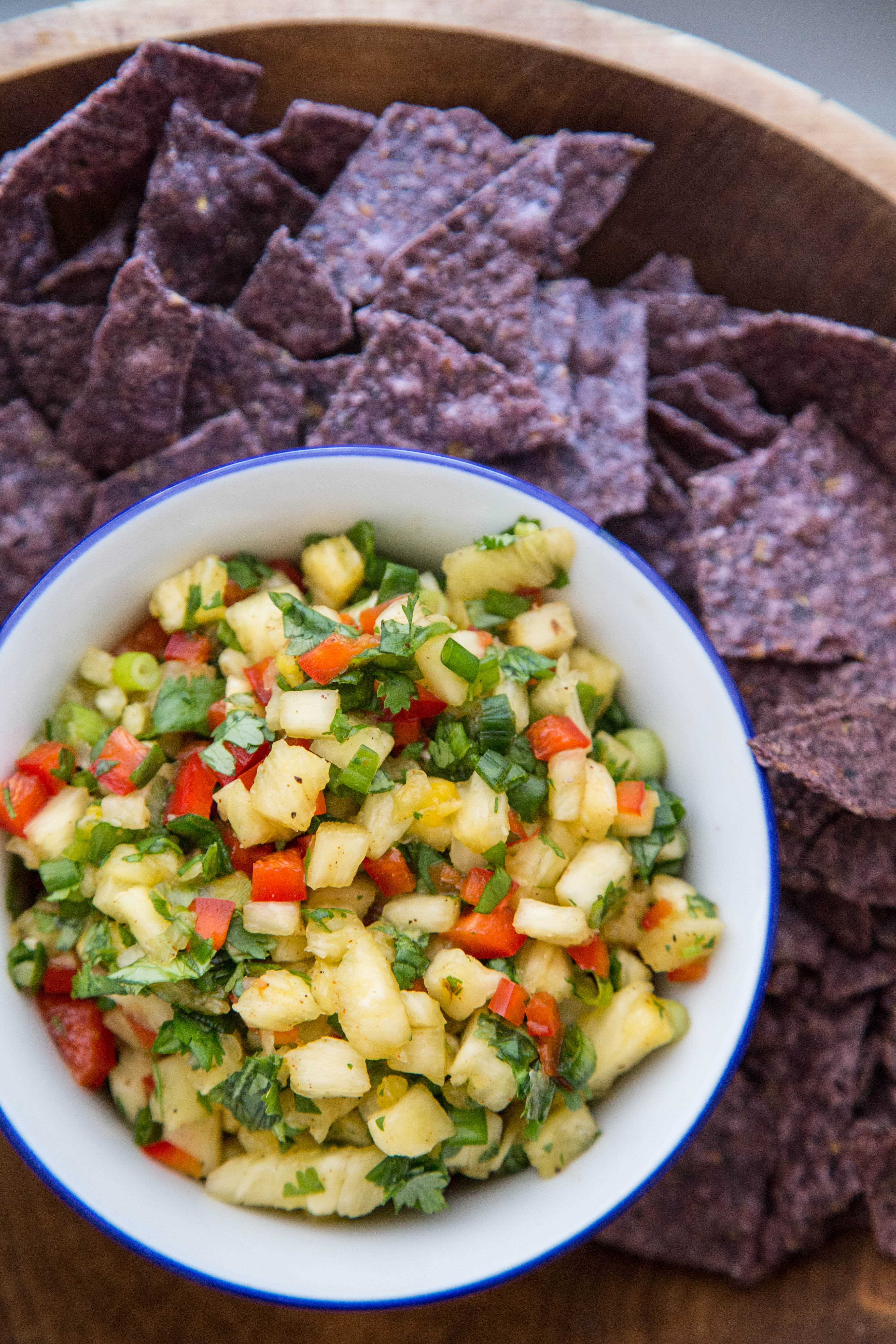This summery sweet and savory pineapple salsa is the one thing you should be eating with your chips.
