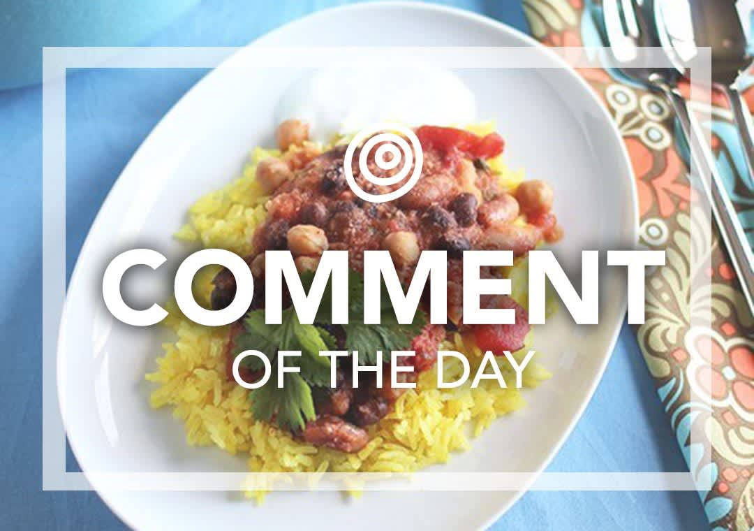Rice and beans - Comment of the Day