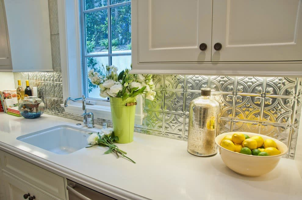 8 Shining Examples of Tin Tiles in the Kitchen: gallery image 3