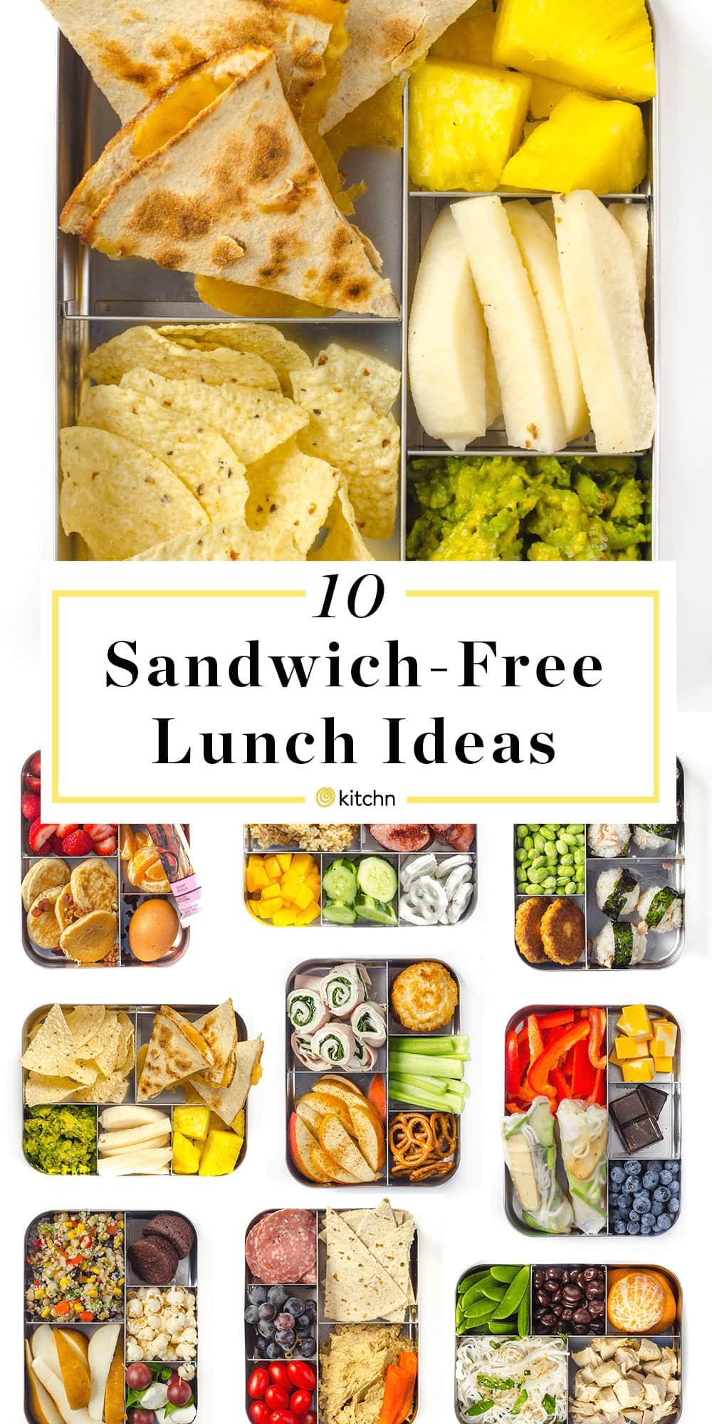 Sandwich Free Lunch Ideas