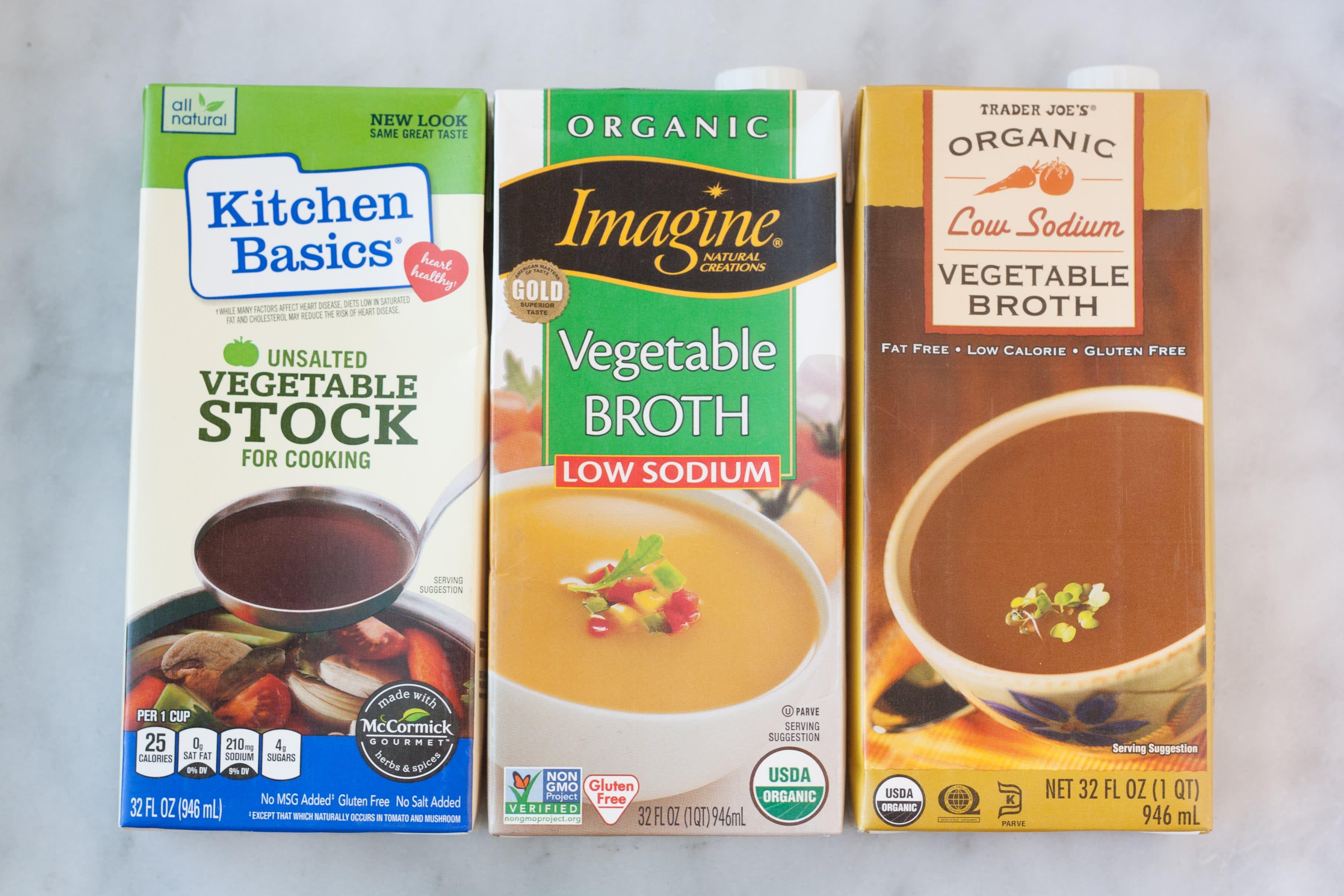 3 Brands of Vegetable Broth