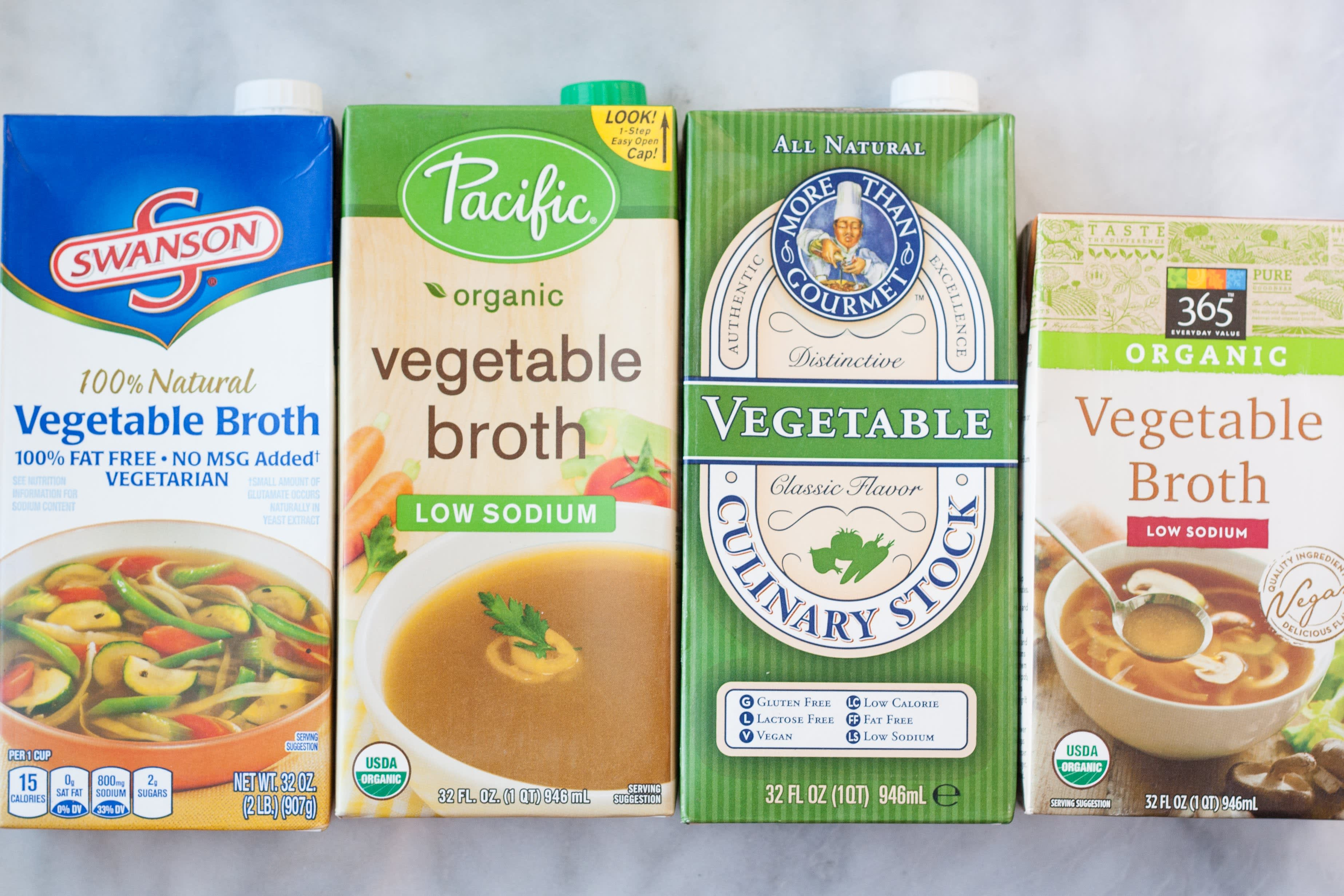4 Brands of Vegetable Broth