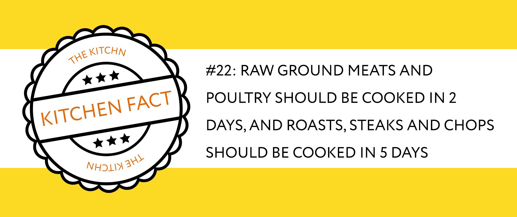 Kitchen Fact Storing Meat