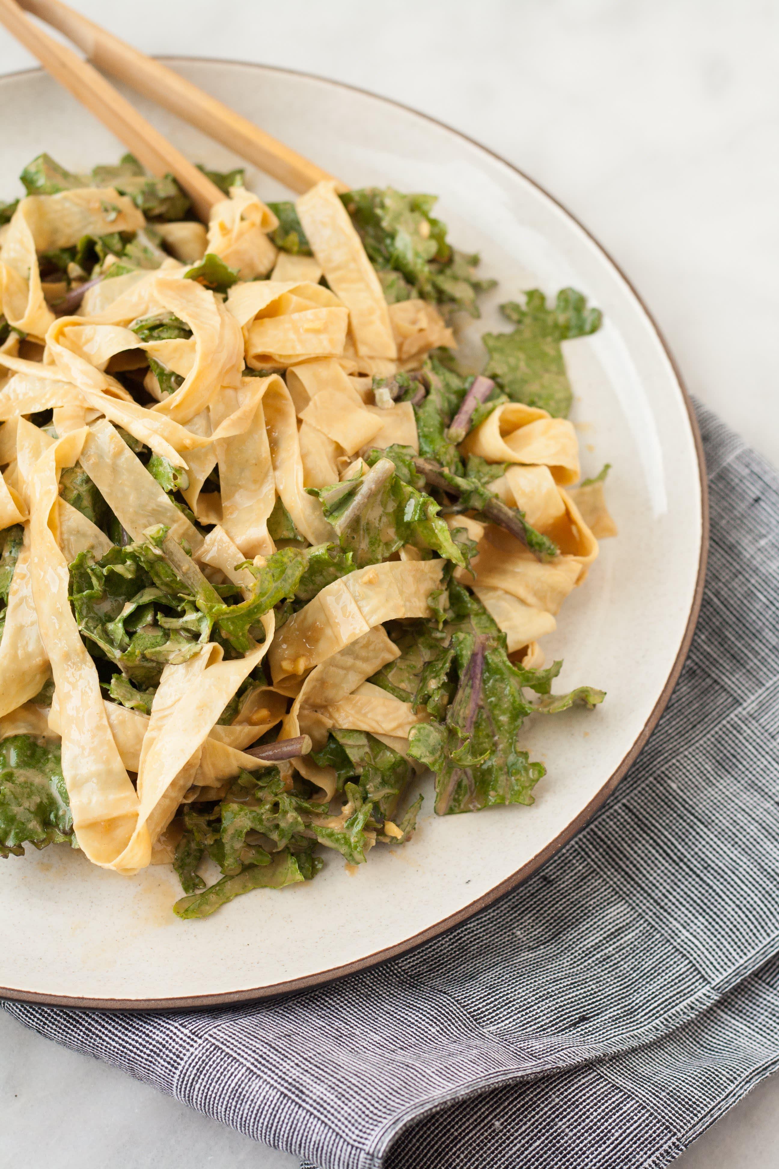 Yuba and kale salad