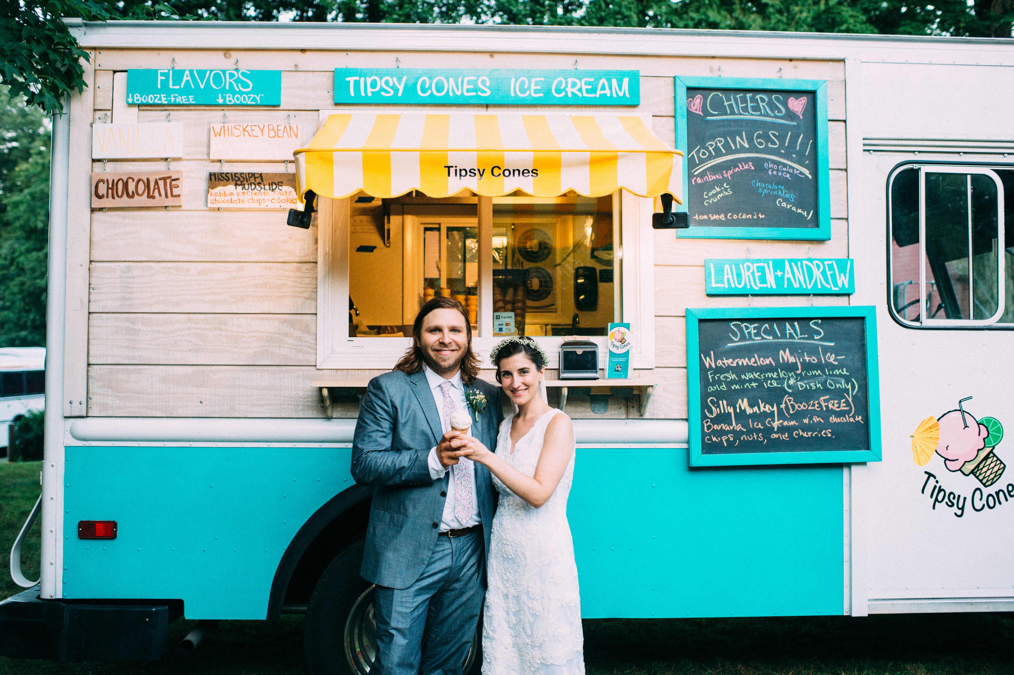 Drew and Lauren in Front of Ice Cream Truck