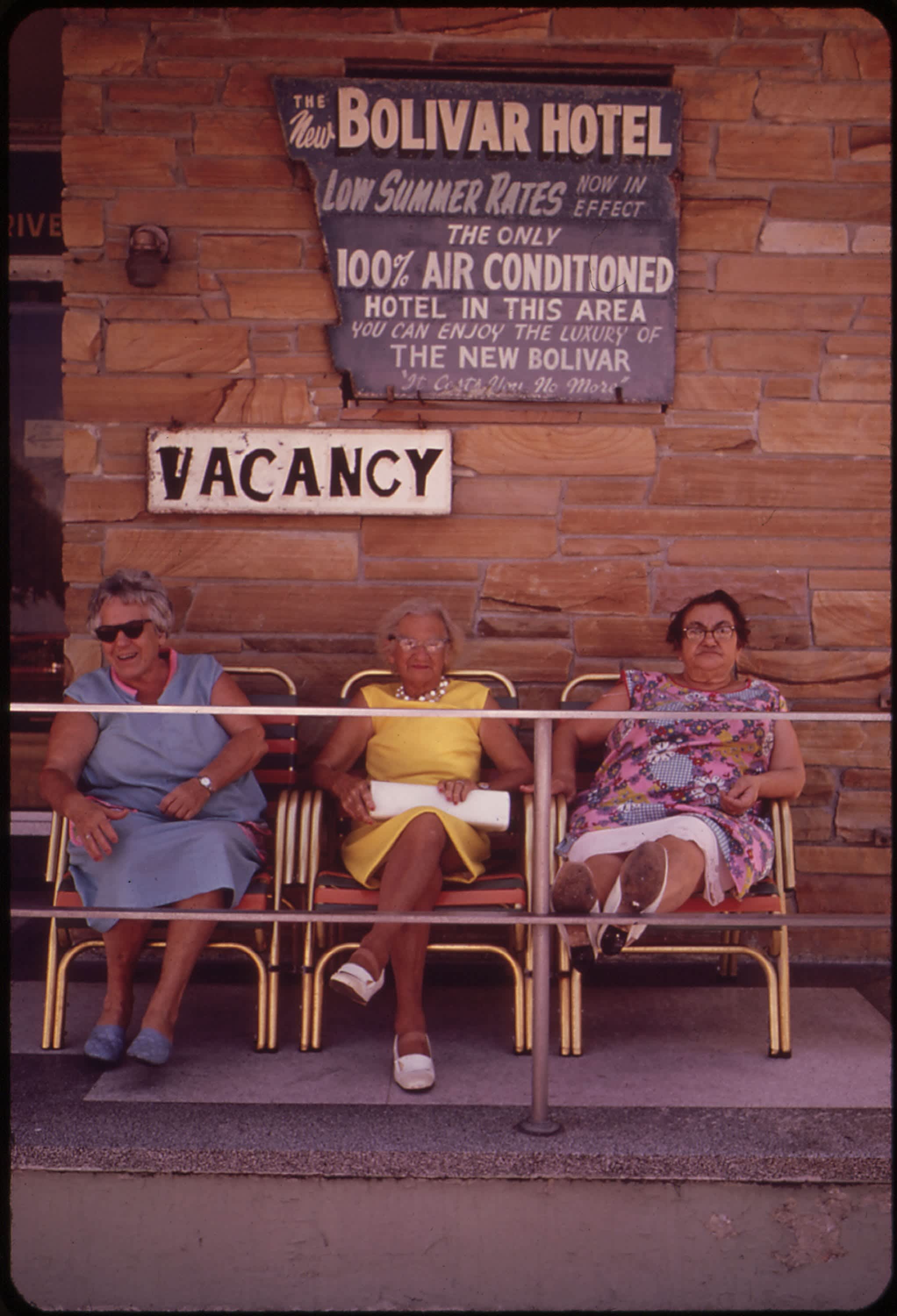 Women sitting on the porch