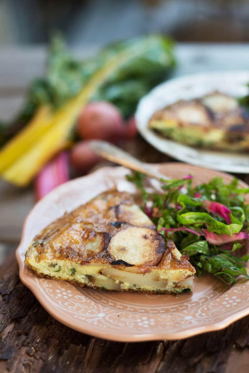 Recipe: Tortilla Espanola with Rainbow Chard