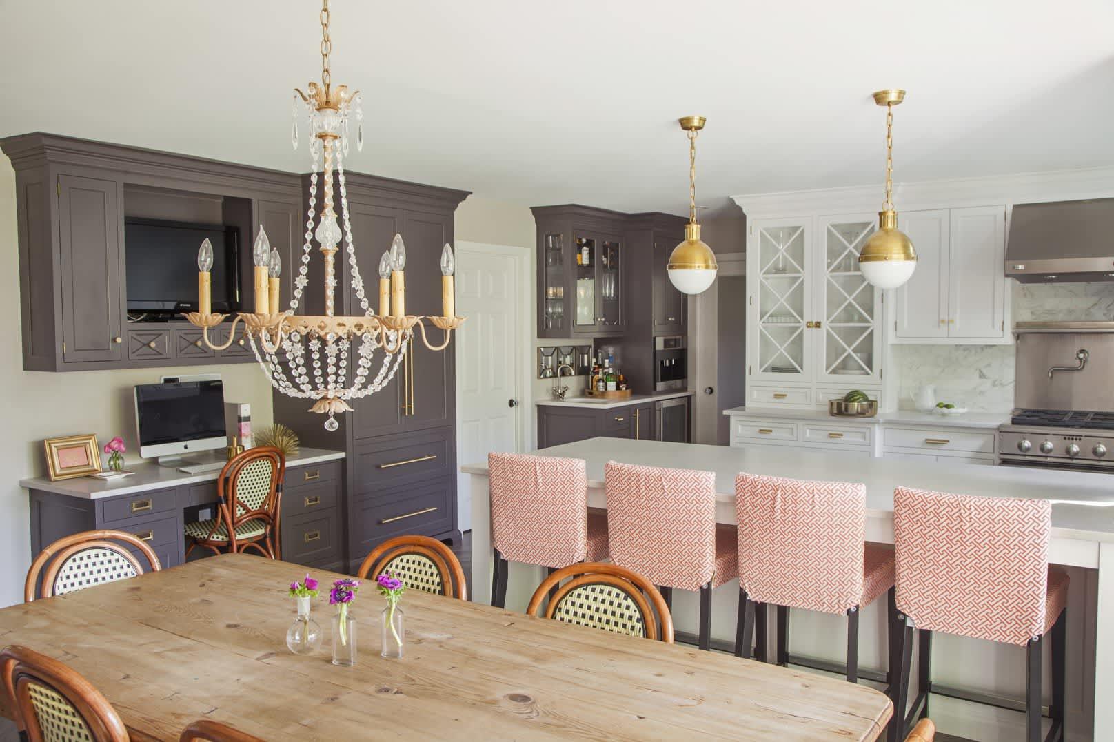 Gold studded kitchen
