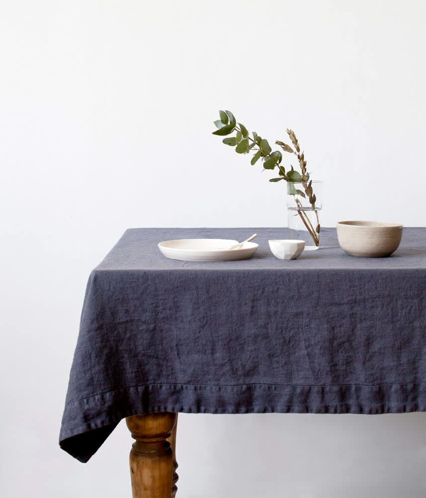Washed Linen Tablecloth from Linen Tales