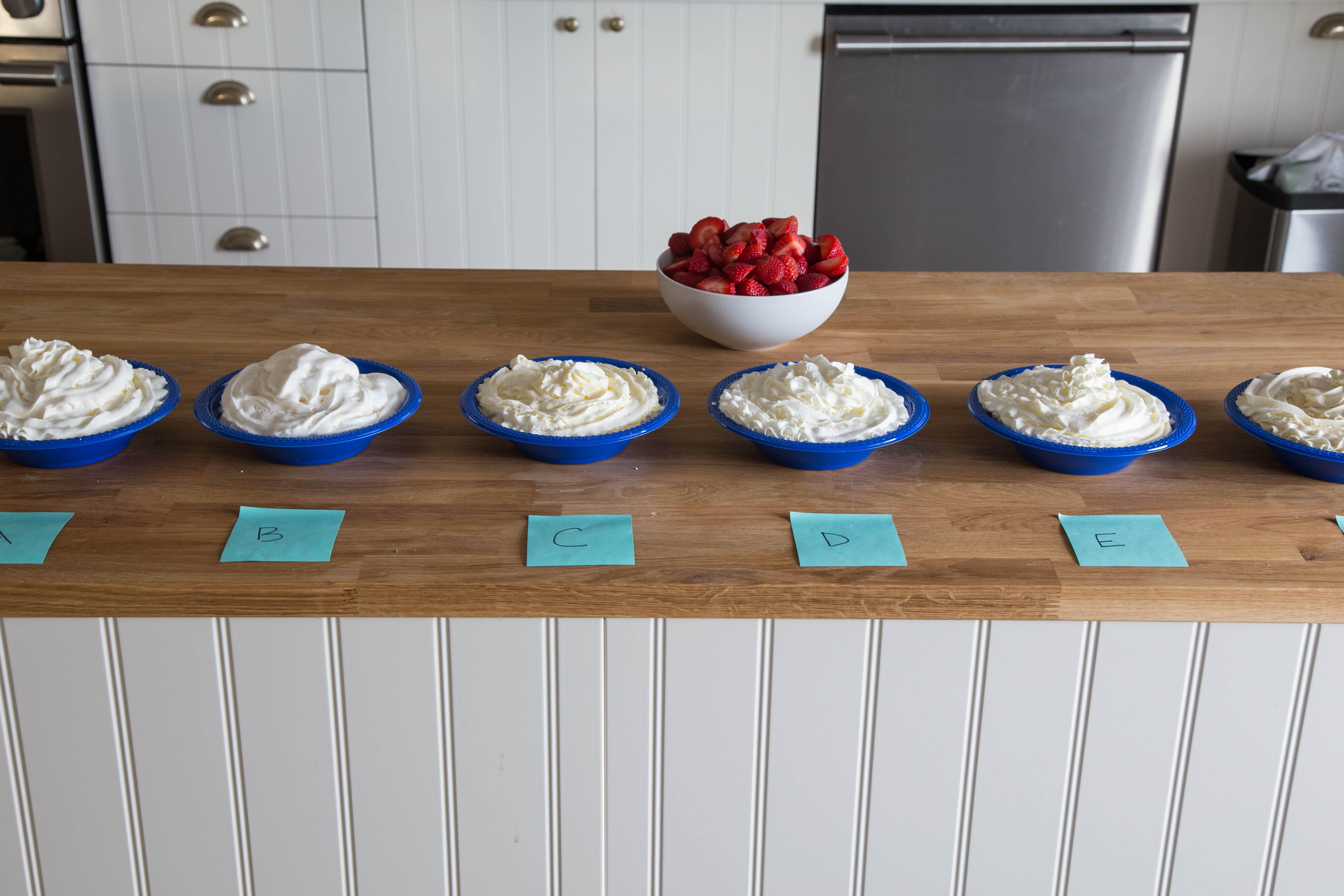 Whipped Cream Taste Test