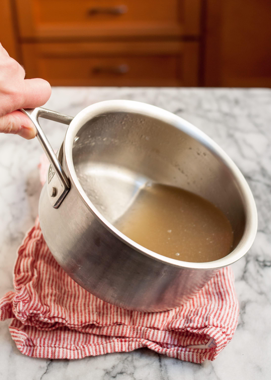 Tilt the pan