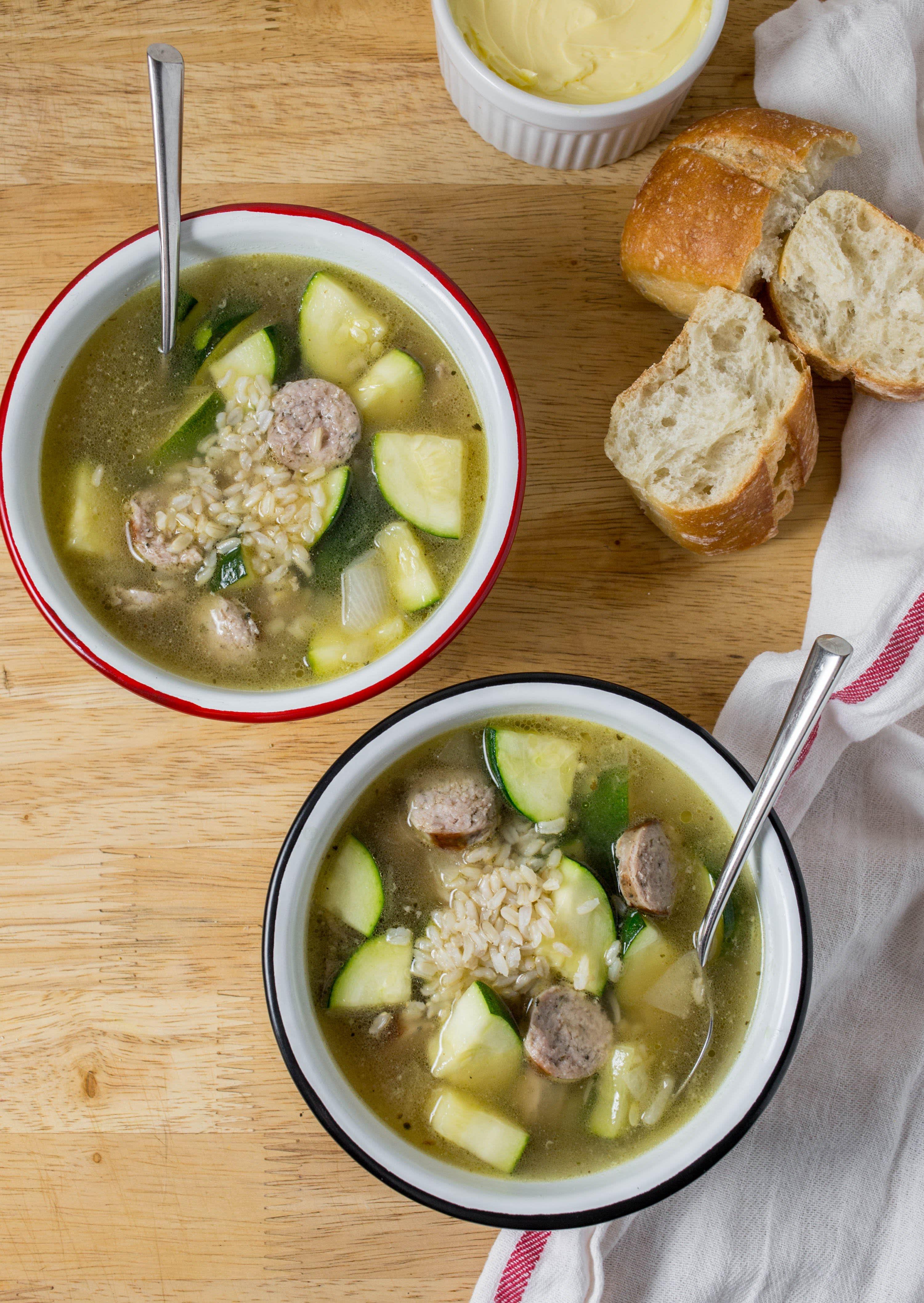 Sausage and Zucchini Soup