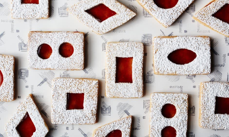 Brown Butter Linzer Cookies