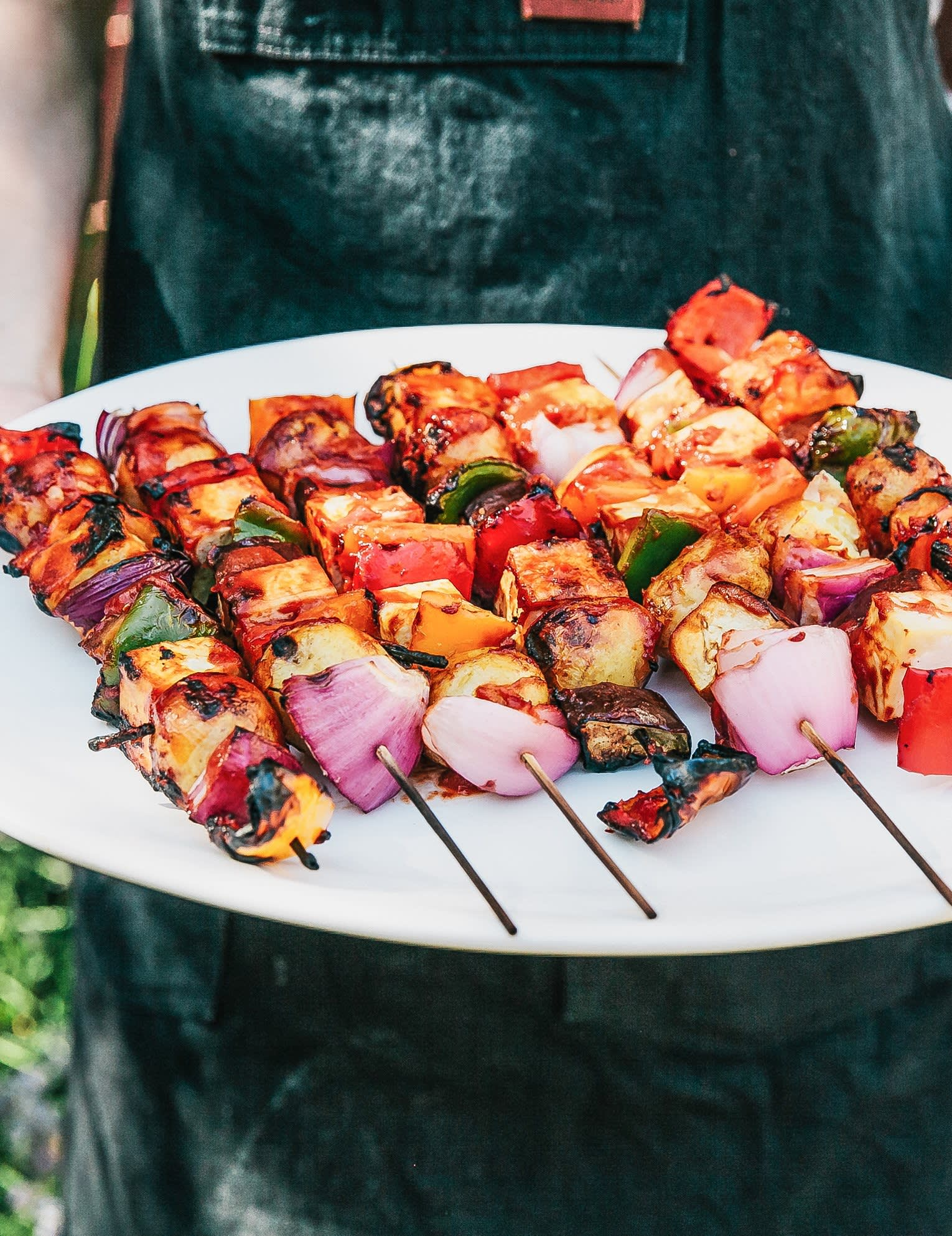 Vegetable Tofu Kebabs