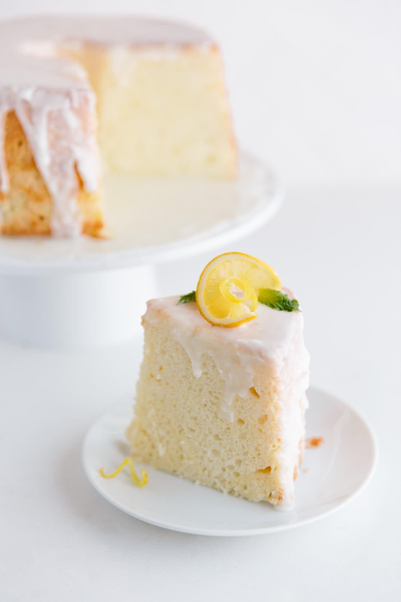 Meyer Lemon Chiffon Cake