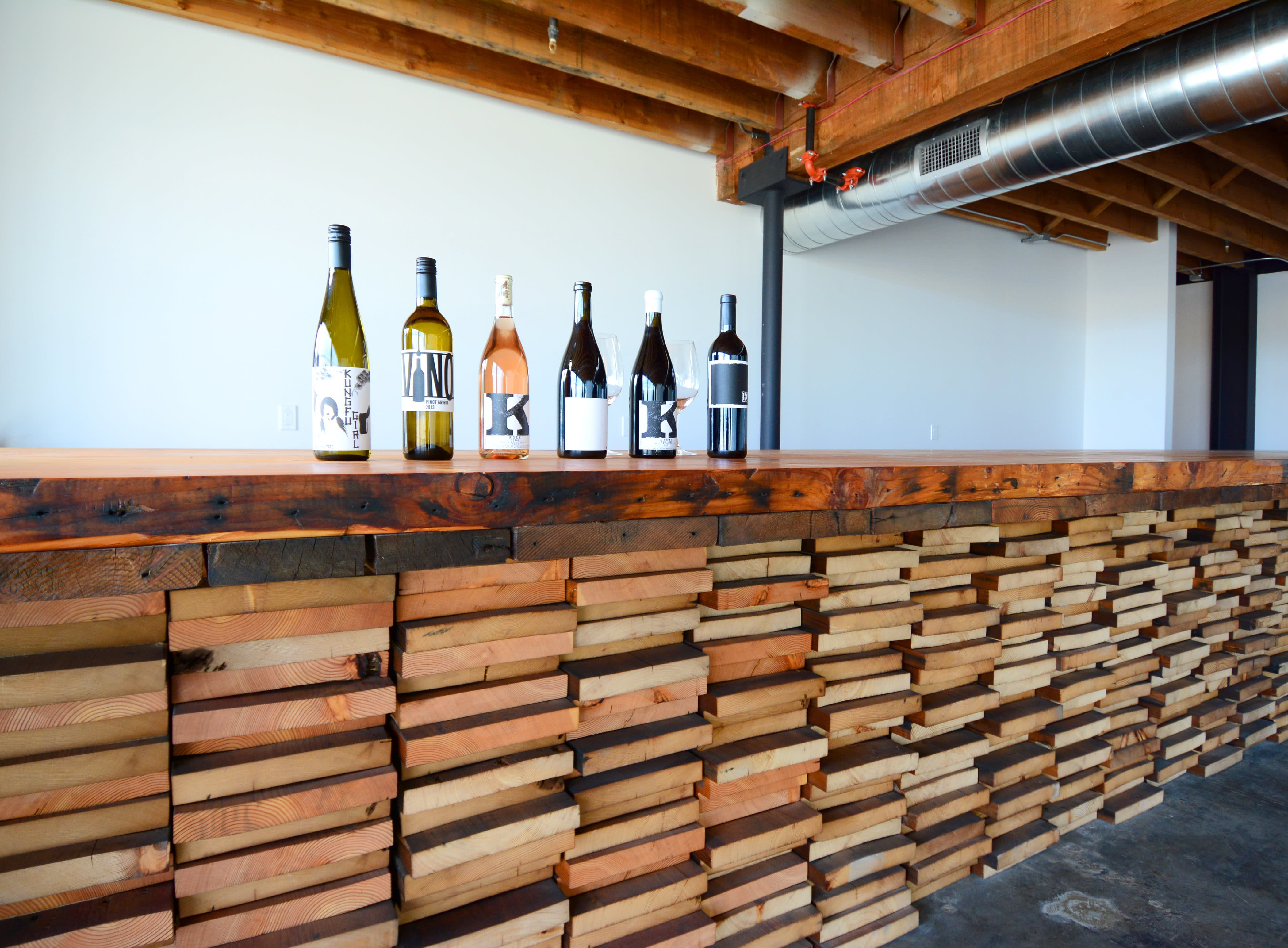 Bar with bottles of wine