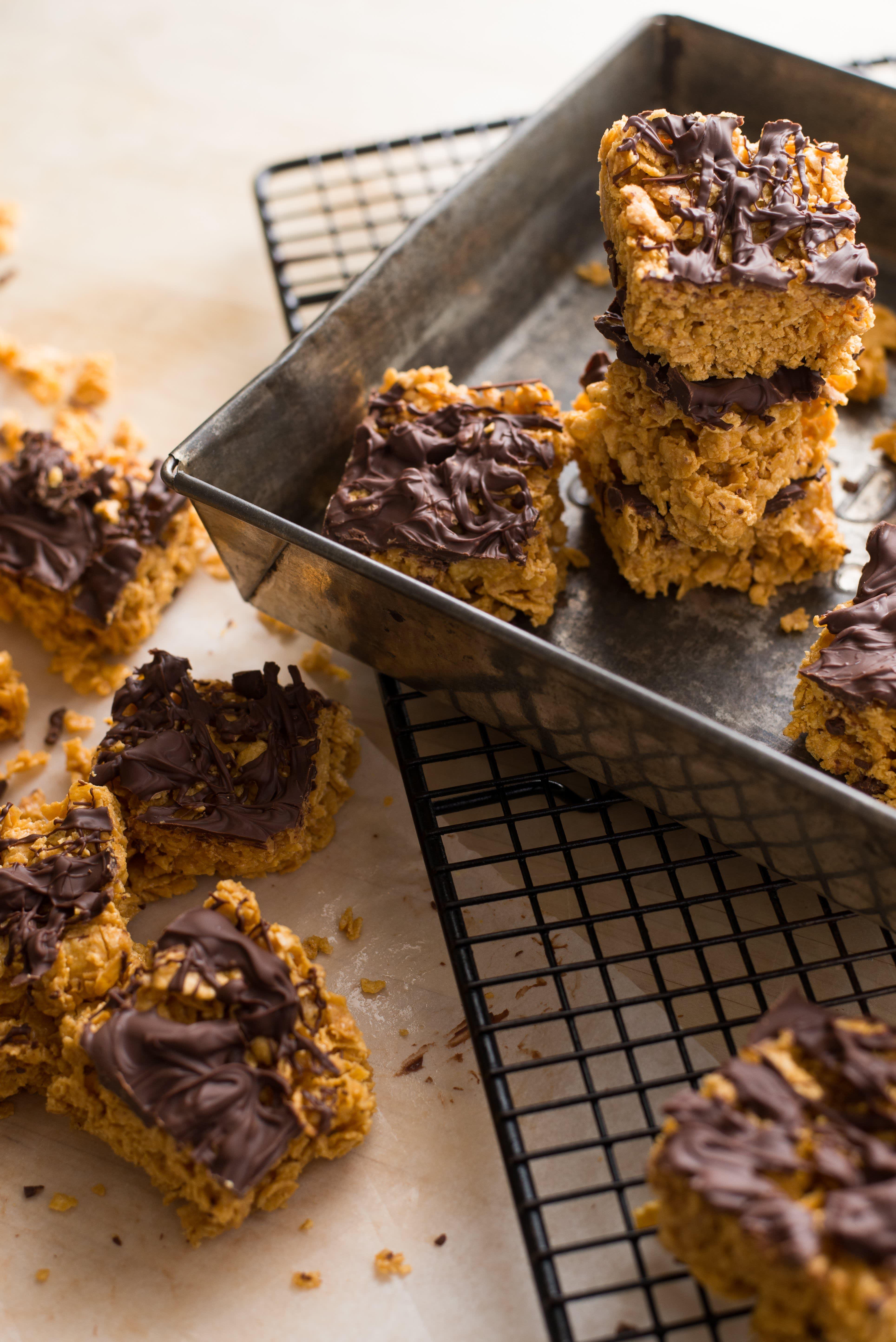 Cornflake and Peanut Butter Bars