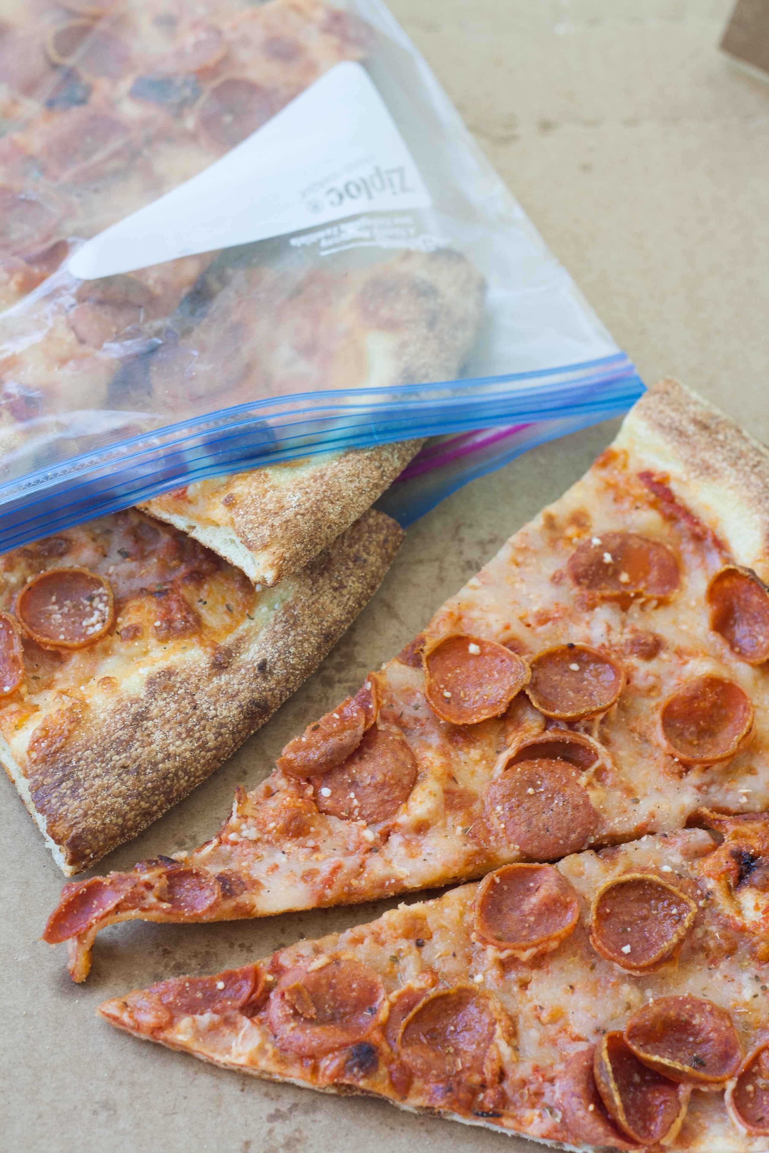 Storing leftover pepperoni pizza