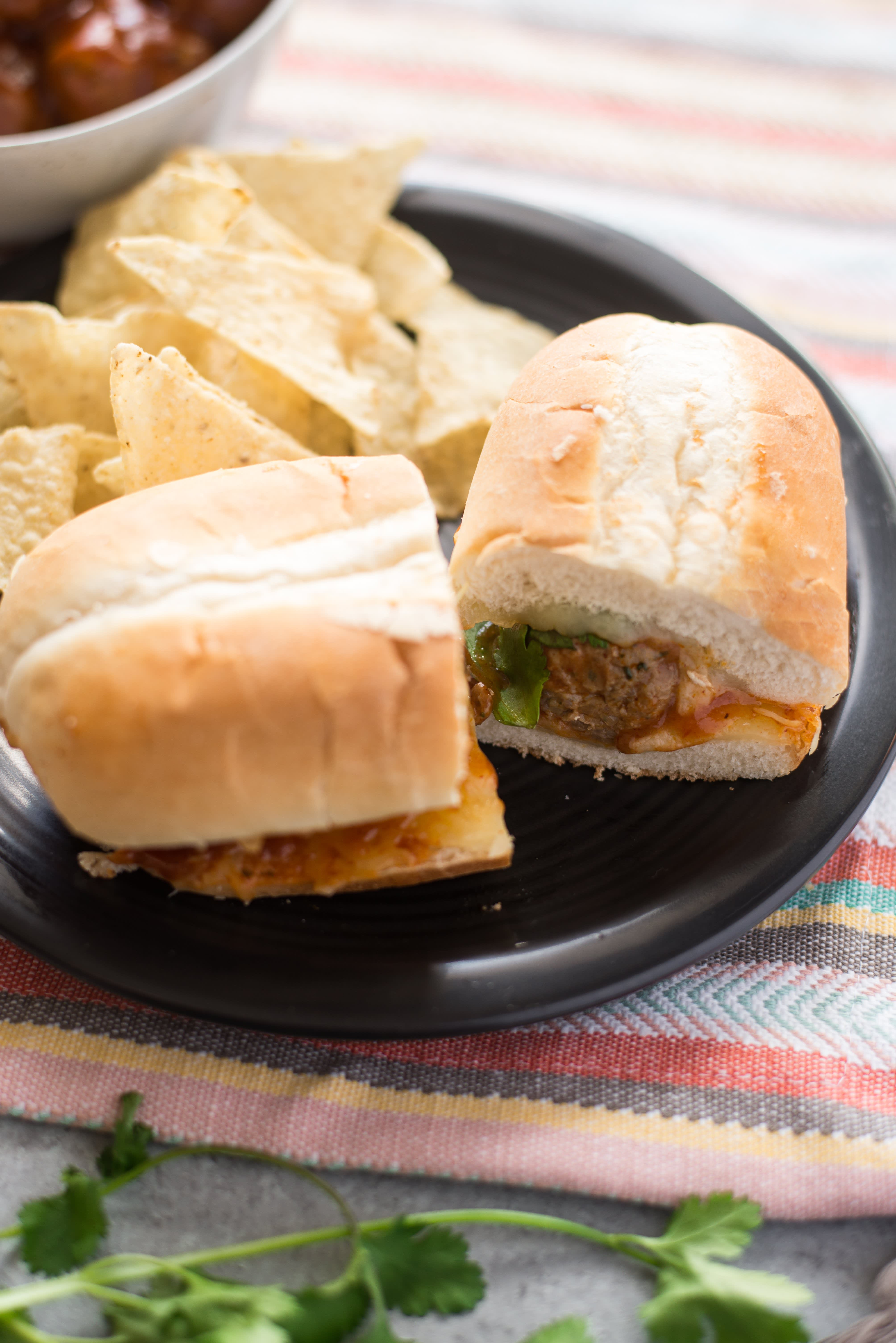 Mexican Meatballs Subs