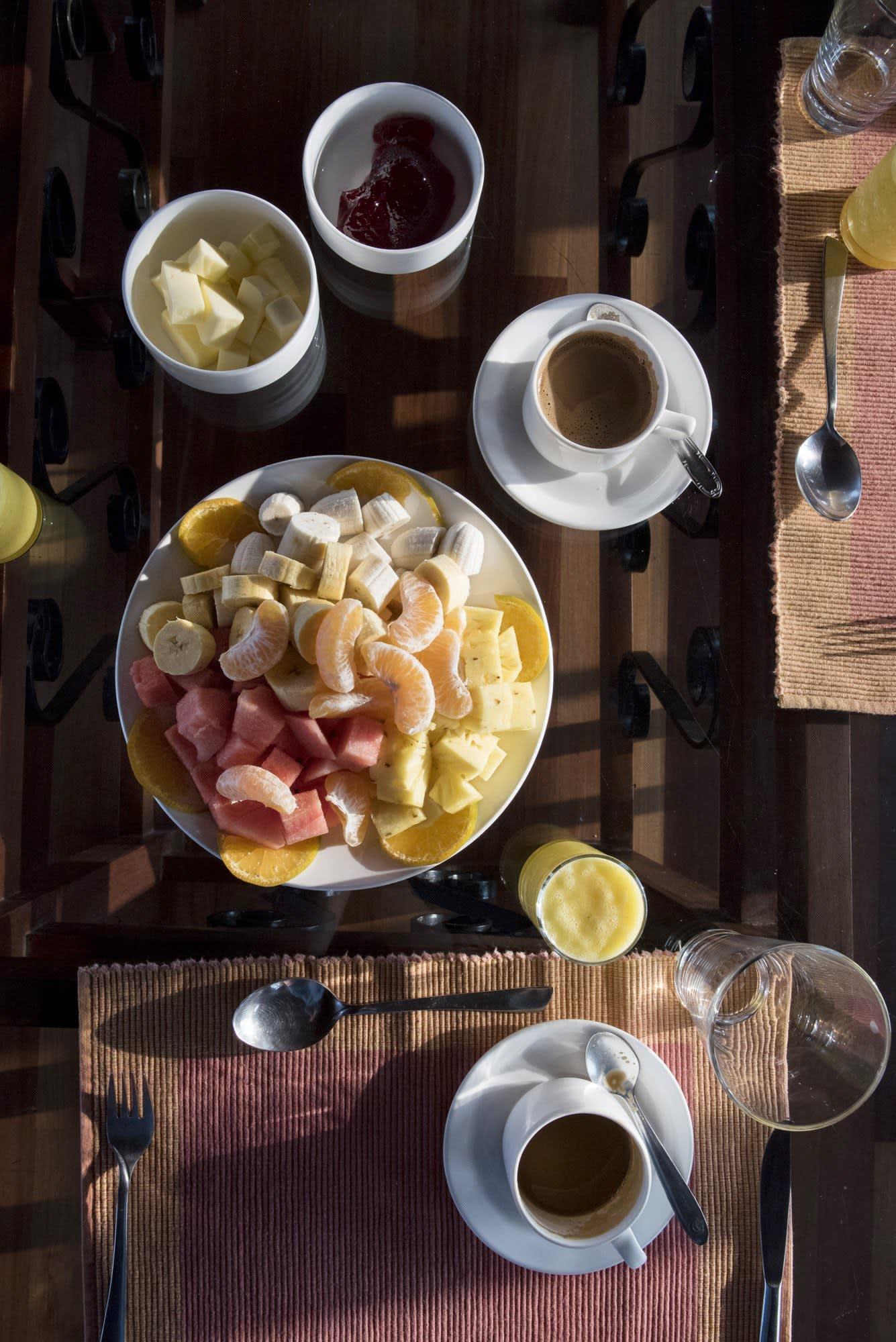 breakfast on a kerala houseboat