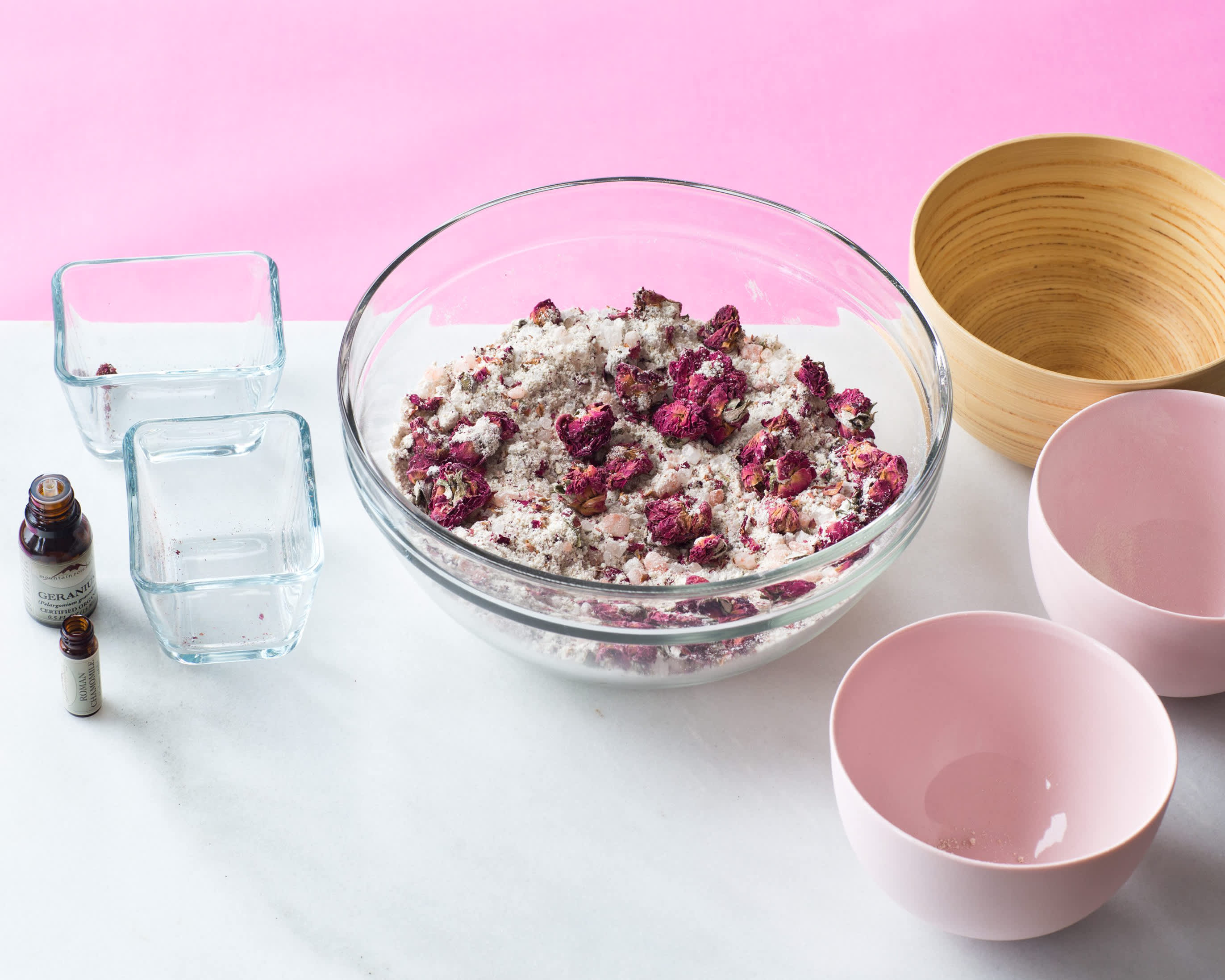 A Homemade Bath Soak with Pink Salt & Roses: gallery ...