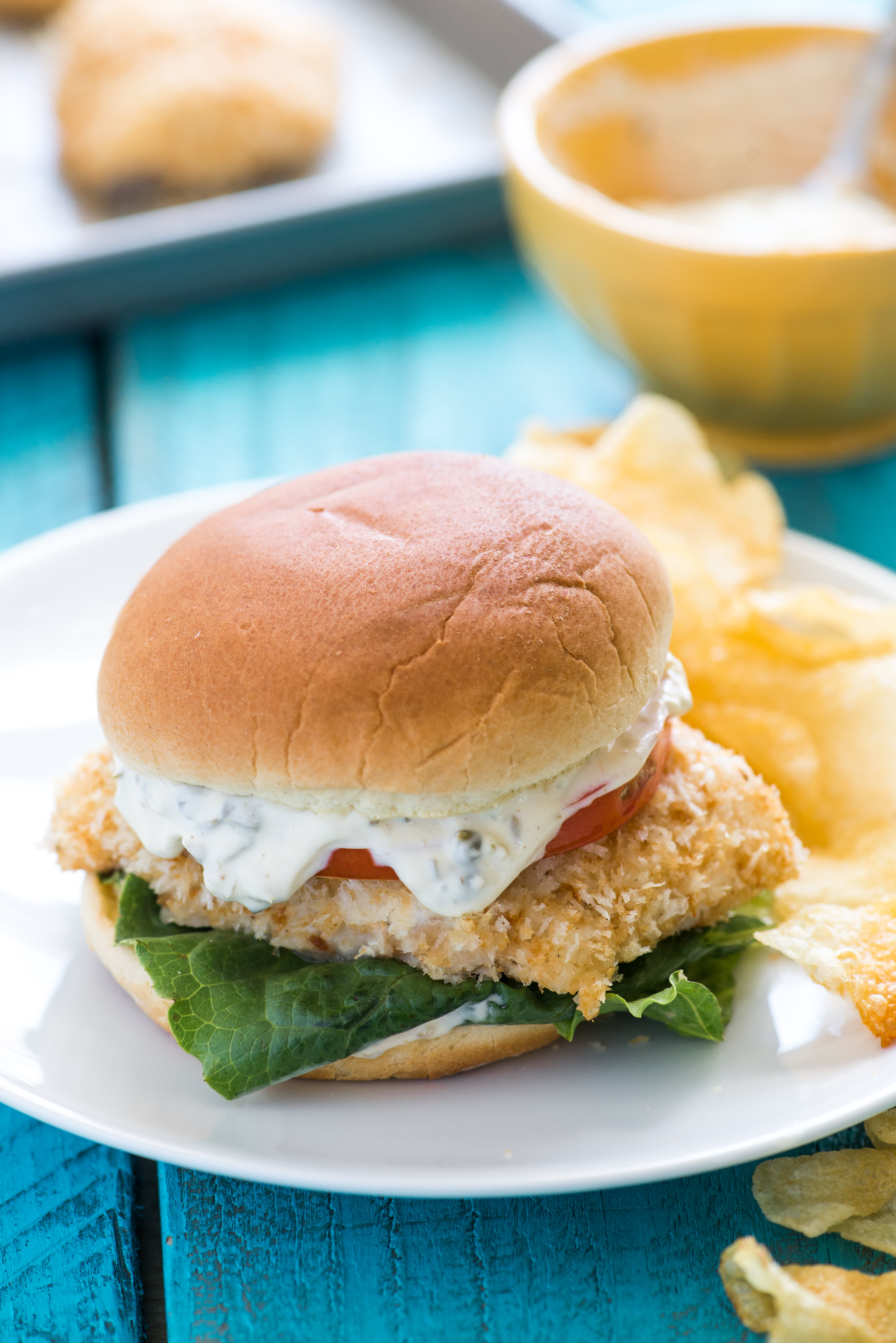 Crispy Baked Fish Sandwiches