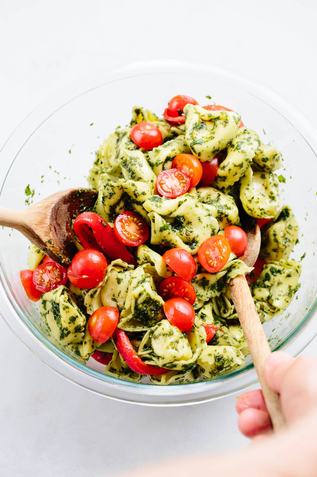 Recipe: Pesto Tortellini Pasta Salad