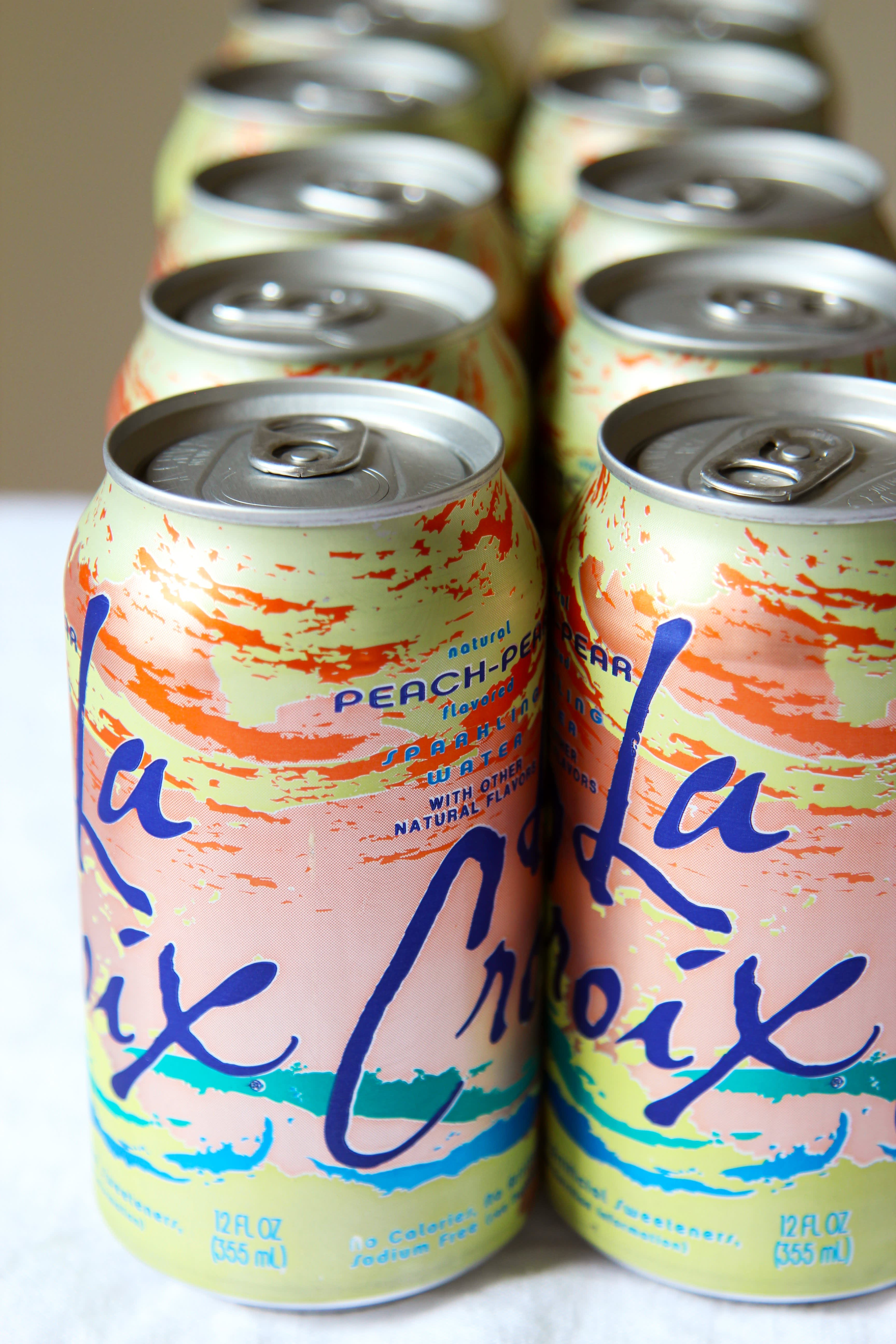 Cans of LaCroix water