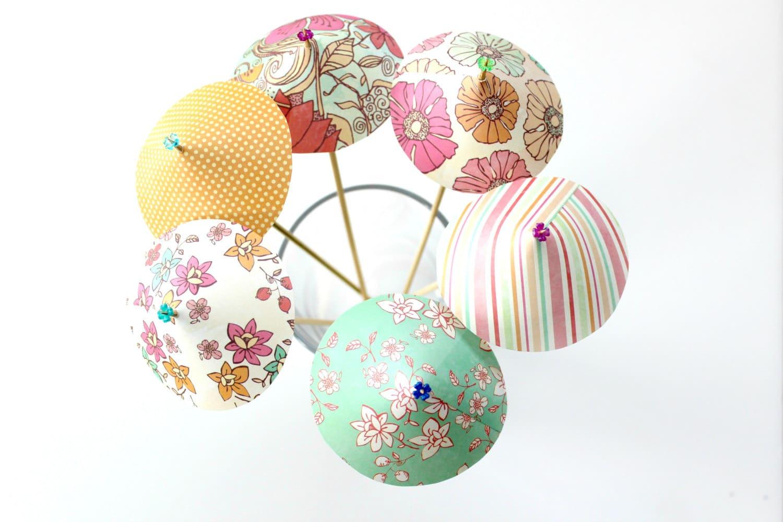 Floral Patterned Drink Umbrellas