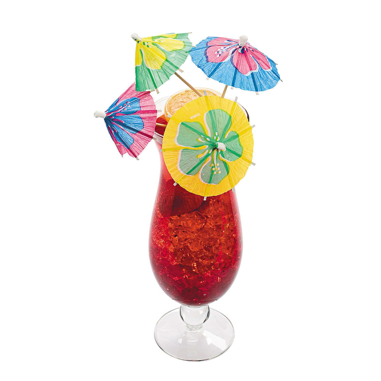 Hibiscus Flower Drink Umbrella