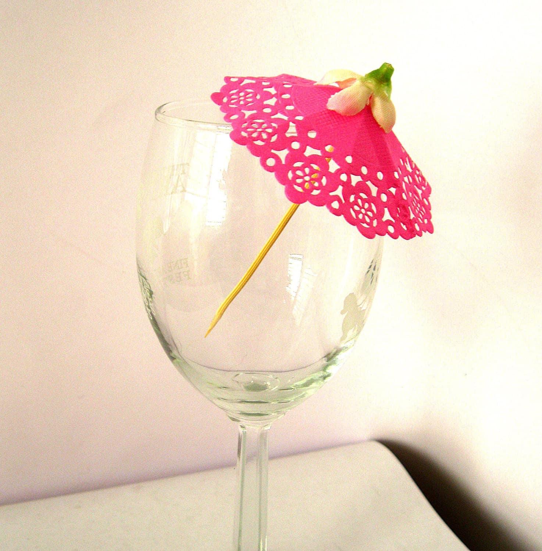 Hot Pink Doily Umbrella