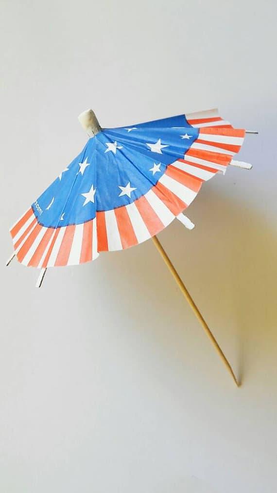 Patriotic Umbrellas