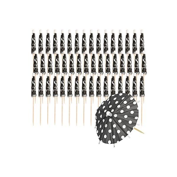 Black & White Polka Dot Umbrellas