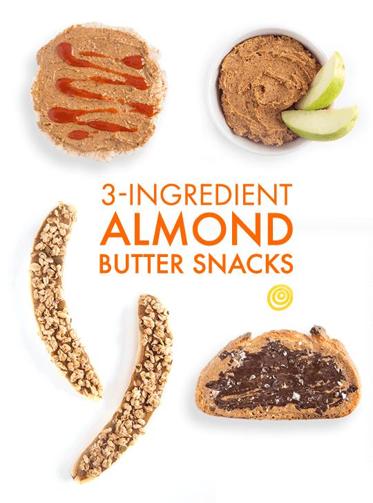 3-Ingredient Almond Butter Snacks