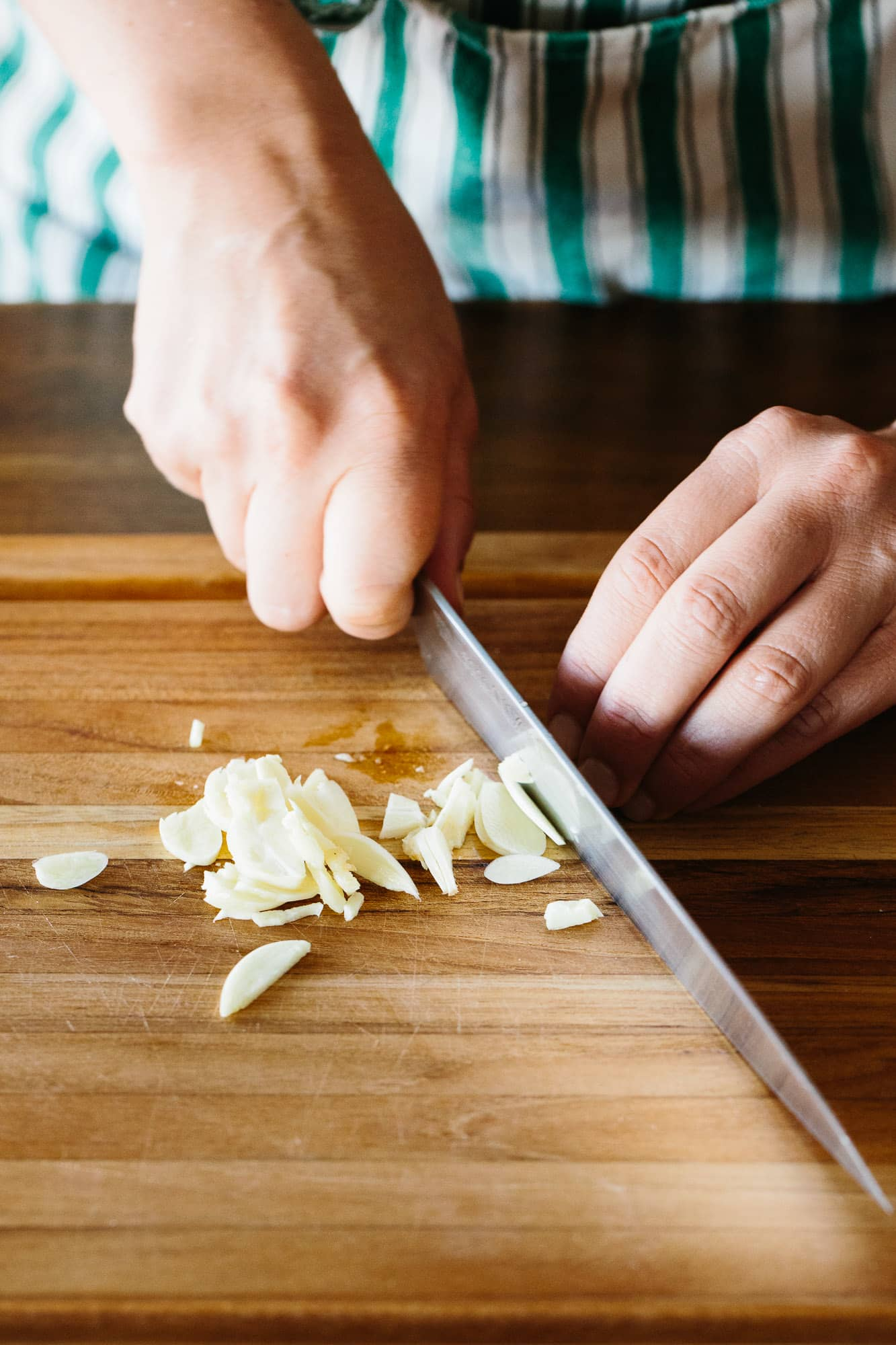 How To Make Garlic Paste with Just Salt and a Knife: gallery image 1