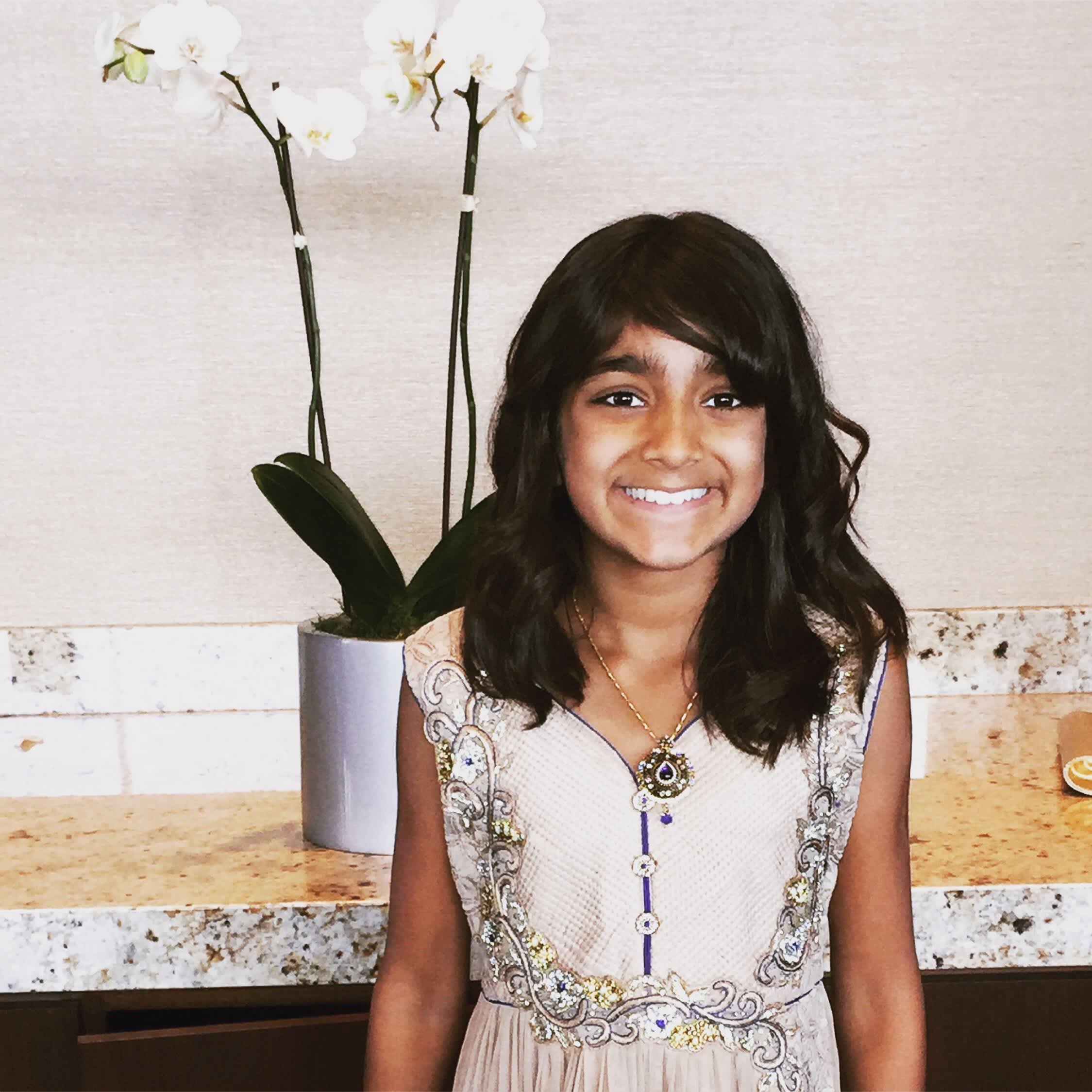 smiling girl on Diwali