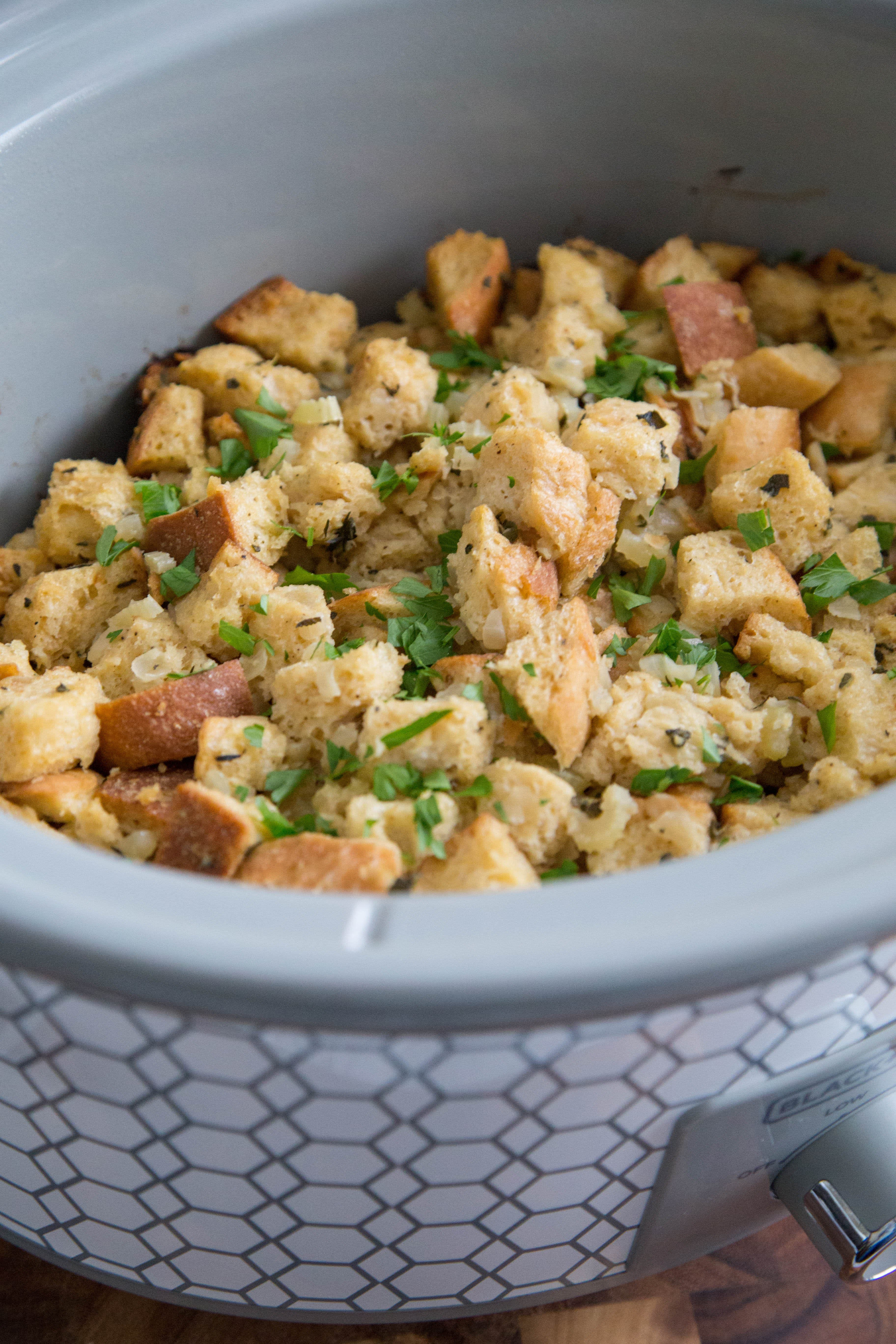 How To Make Stuffing in a Slow Cooker