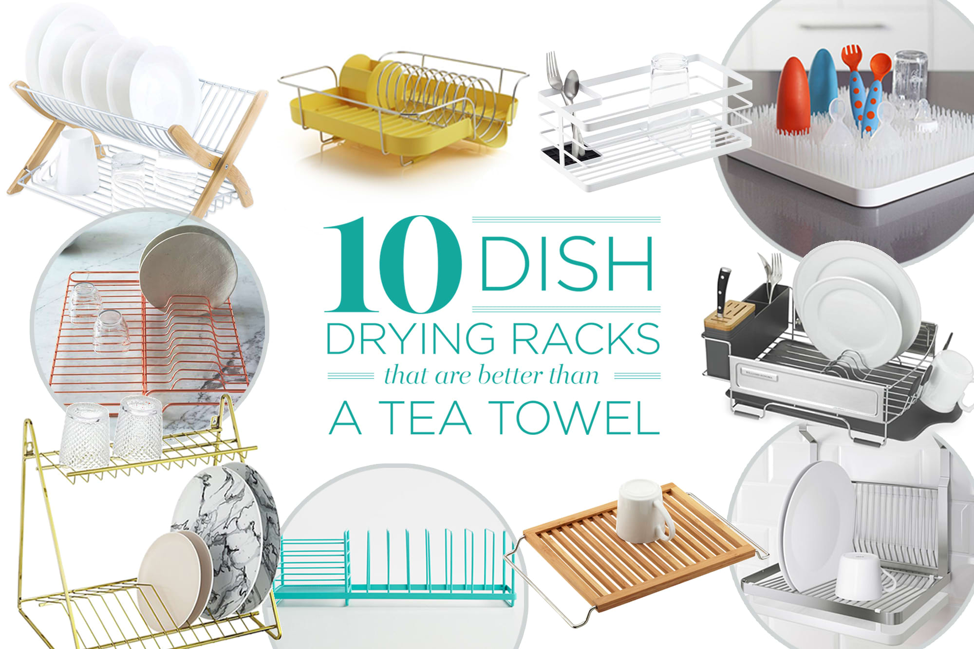 10 Dish Drying Racks That Are Better than a Tea Towel: gallery image 1