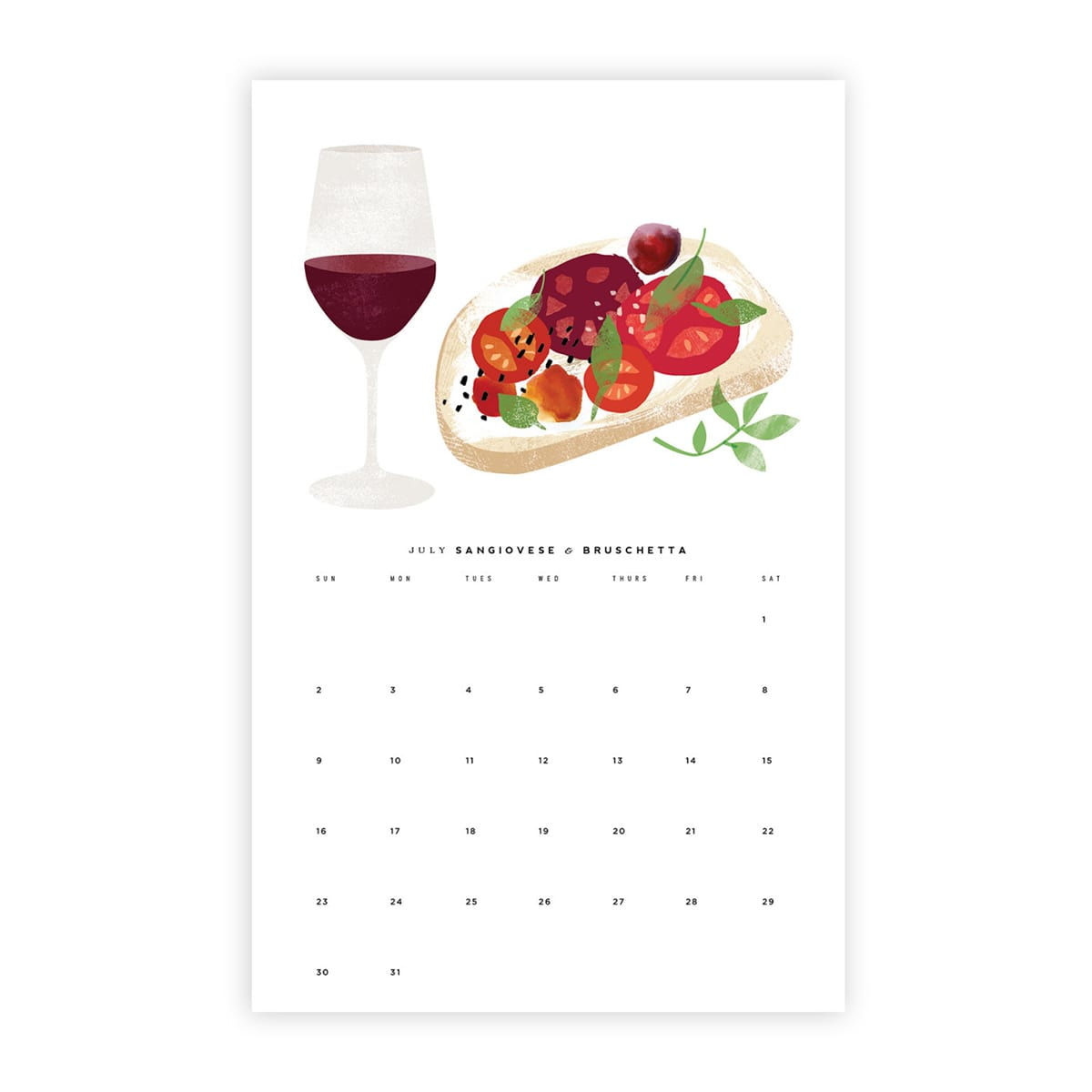 10 Food-Themed Calendars for a Yummy New Year: gallery image 6