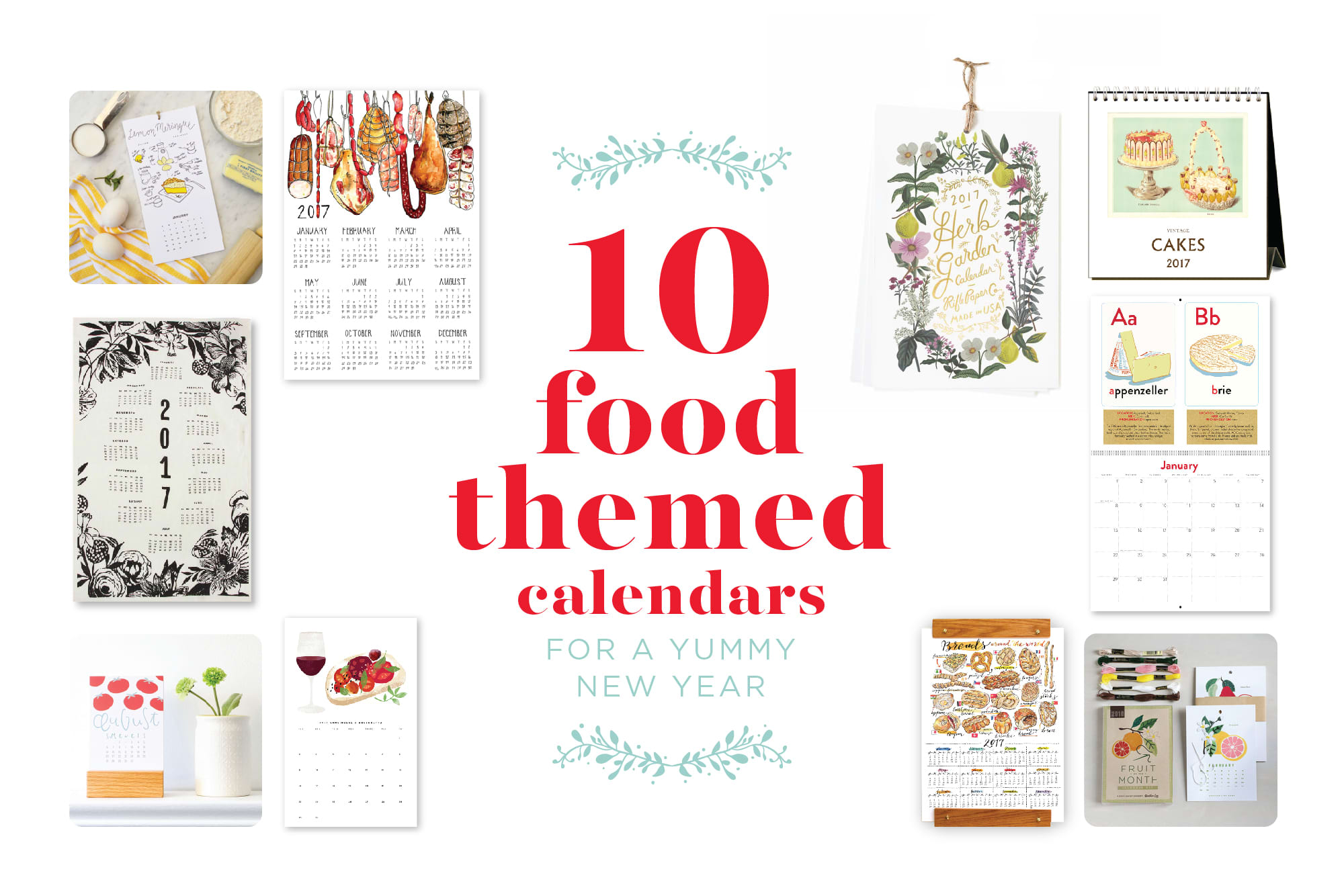 10 Food-Themed Calendars for a Yummy New Year: gallery image 1