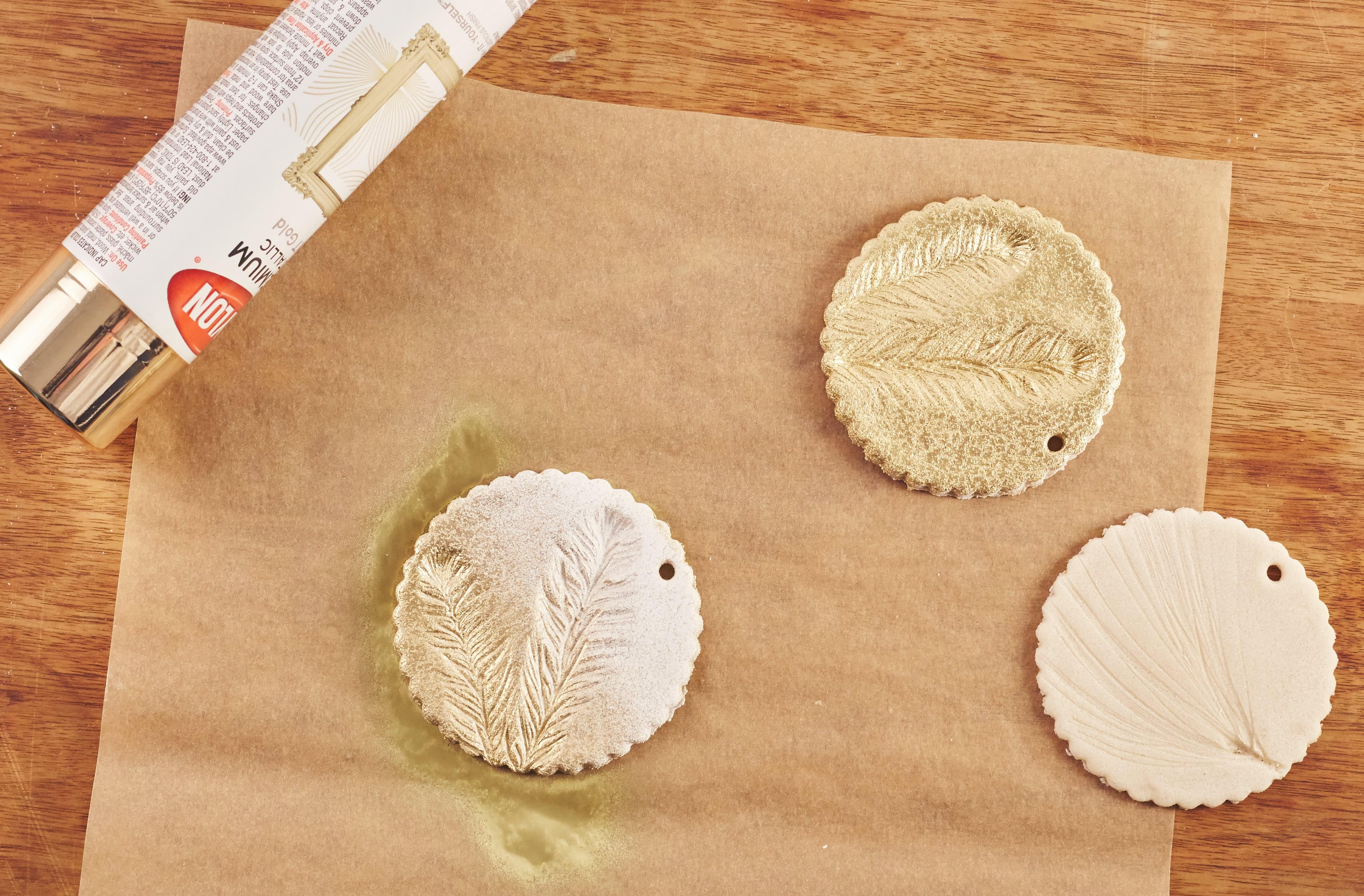 How To Make Glam Salt Dough Ornaments for Christmas: gallery image 9