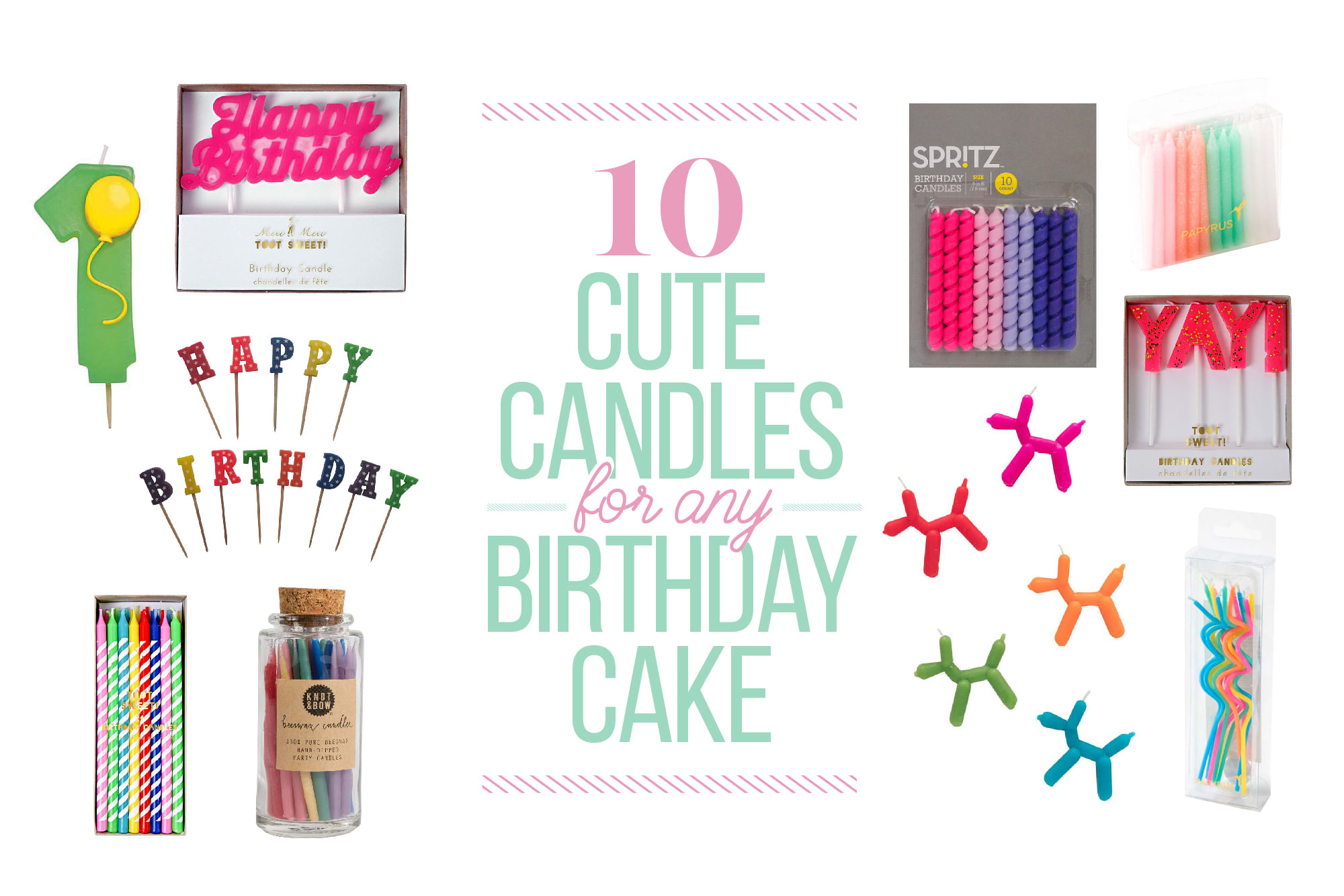 10 Cute Candles for Any Birthday Cake: gallery image 1
