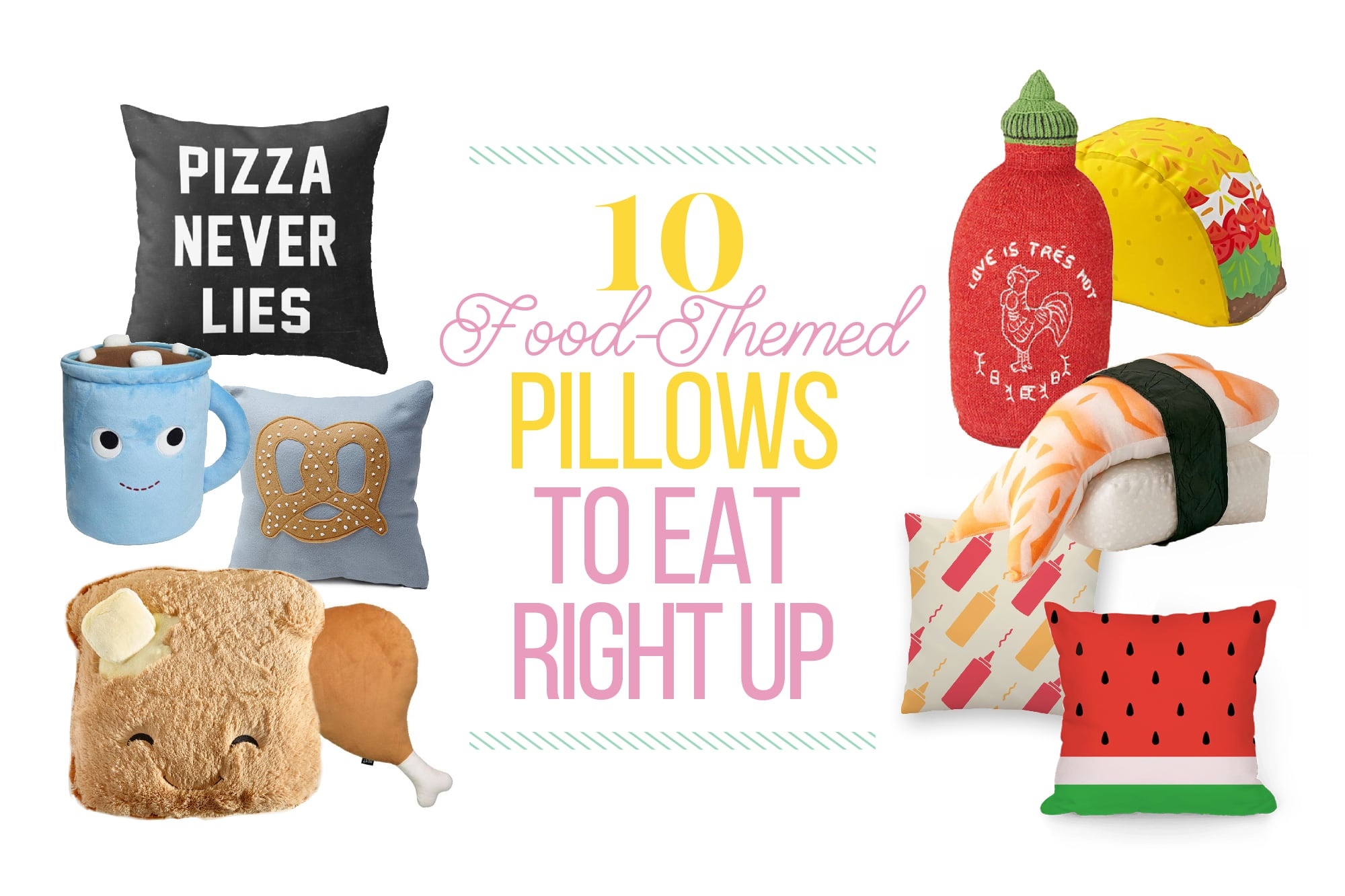 10 Food-Themed Pillows So Cute You Could Eat Them: gallery image 1