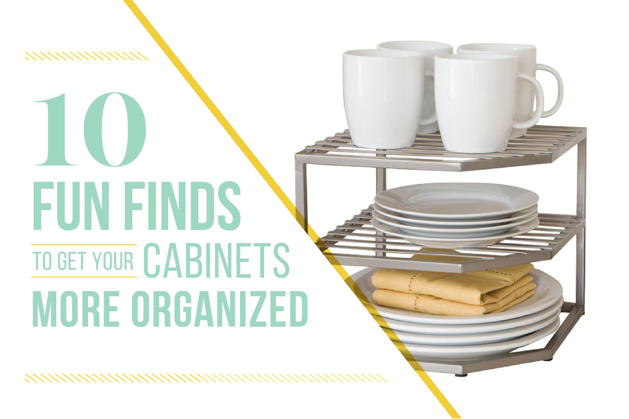 10 Fun Finds to Get Your Cabinets More Organized: gallery image 1