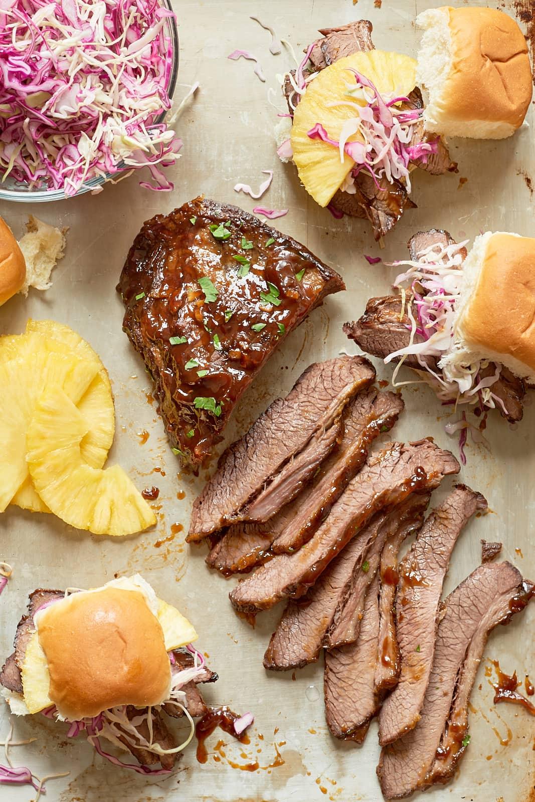 Recipe: Slow Cooker Hawaiian Brisket Sandwiches