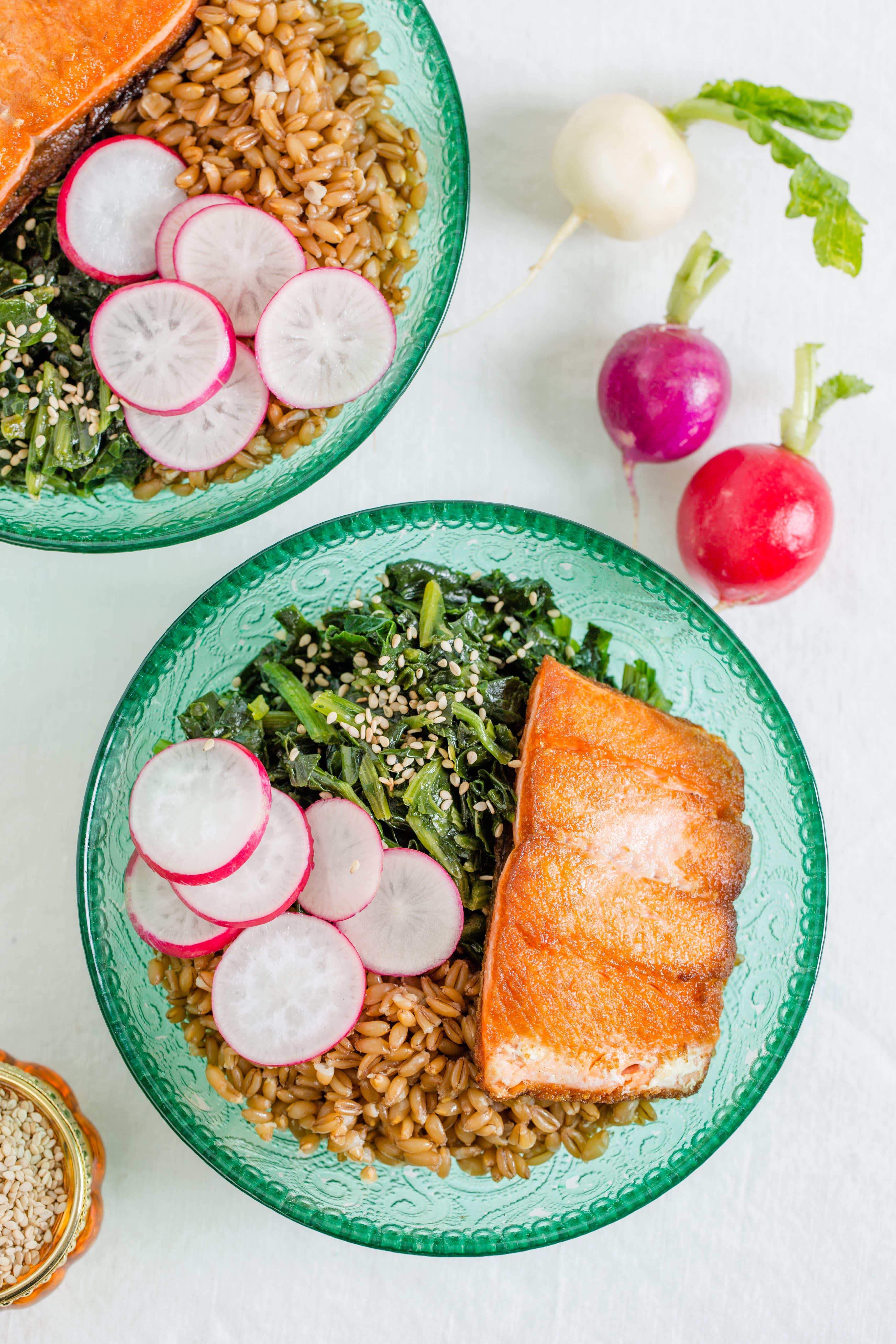 Farro Bowl with Salmon